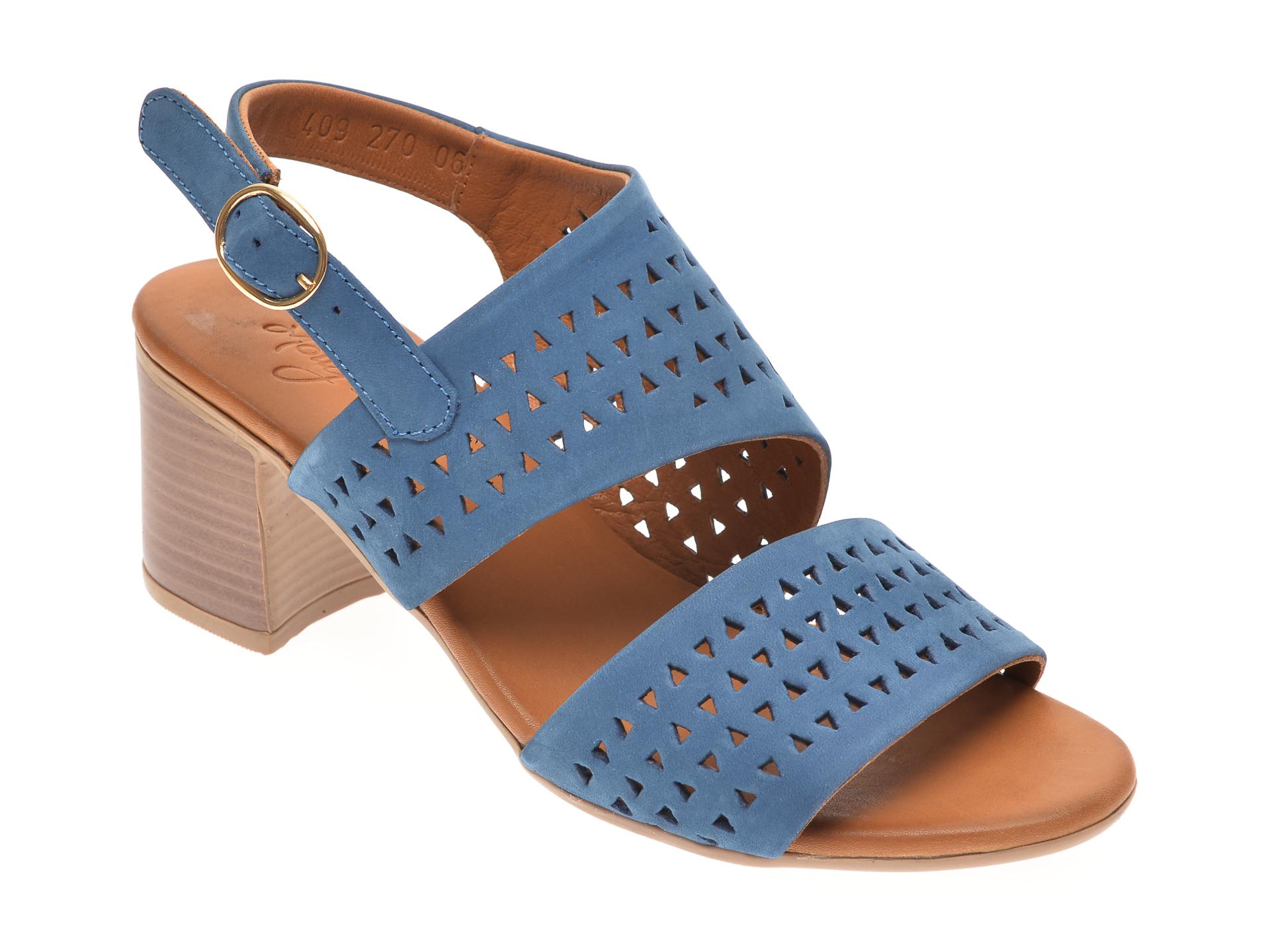 Sandale MOLLY BESSA bleumarin, 409270, din piele naturala New