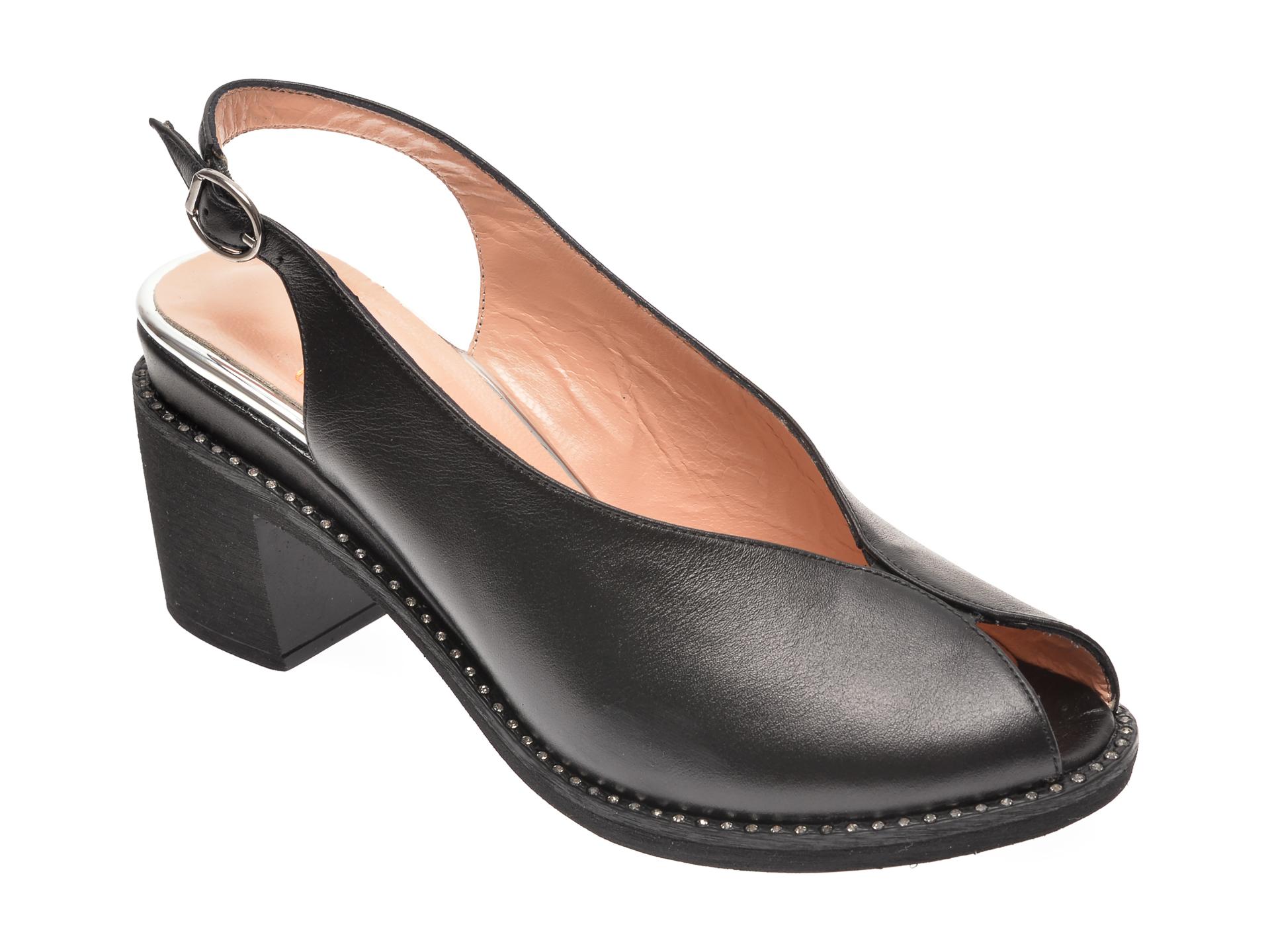 Sandale MOLLY BESSA negre, 285281, din piele naturala