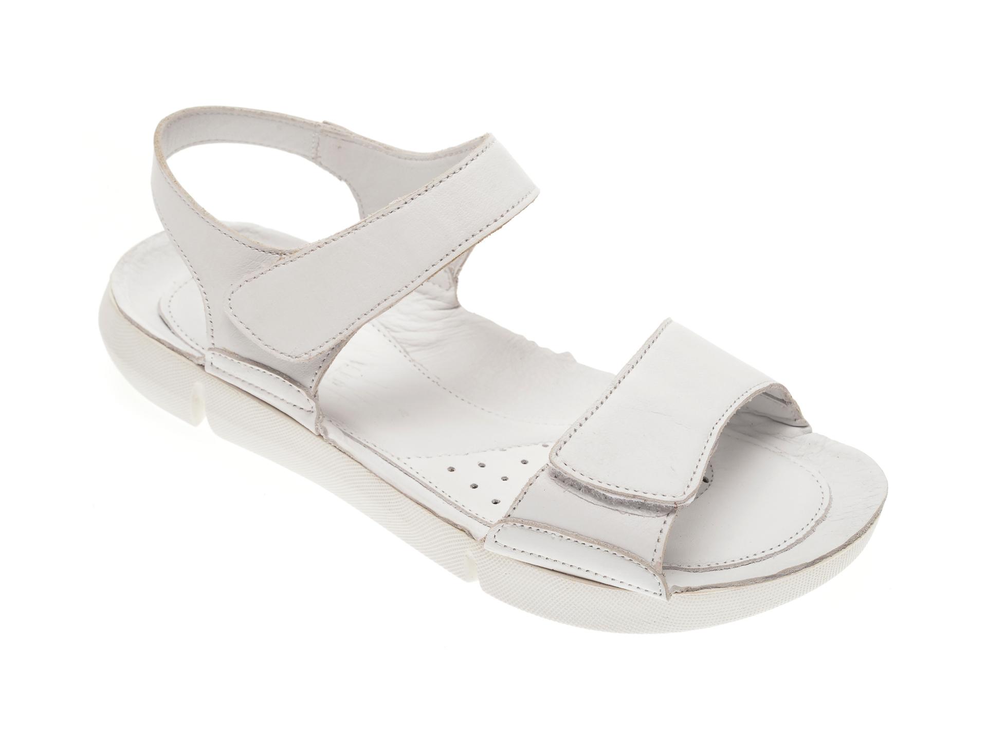 Sandale NICOLE albe, 6004, din piele naturala