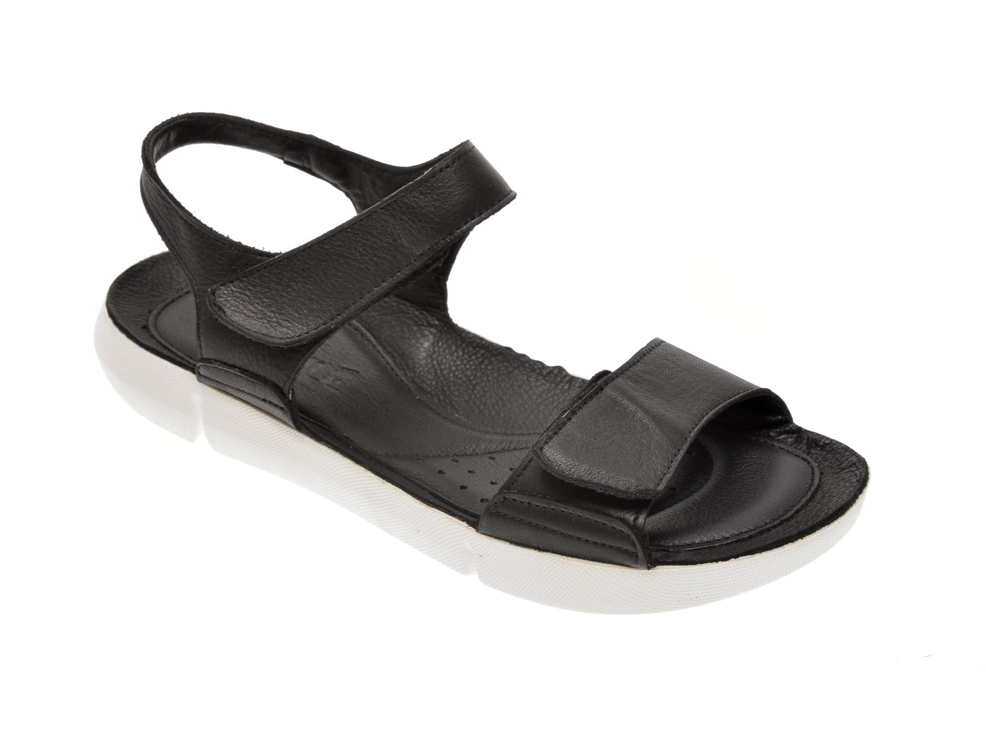Sandale NICOLE negre, 6004, din piele naturala New