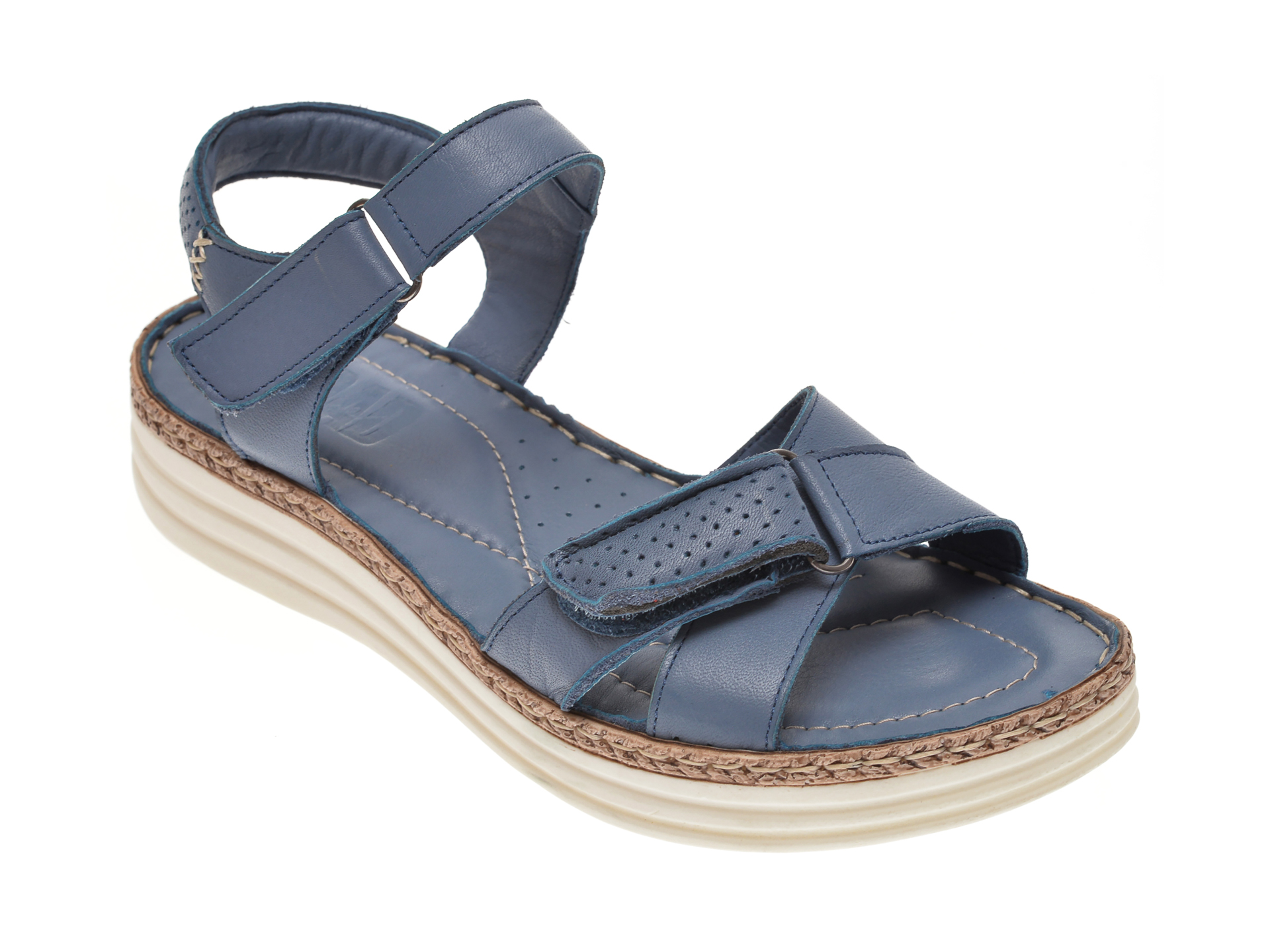 Sandale ON THE ROAD albastre, 502, din piele naturala