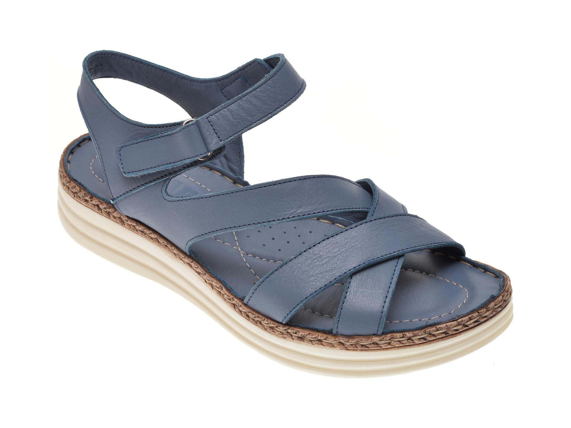 Sandale ON THE ROAD albastre, 543, din piele naturala