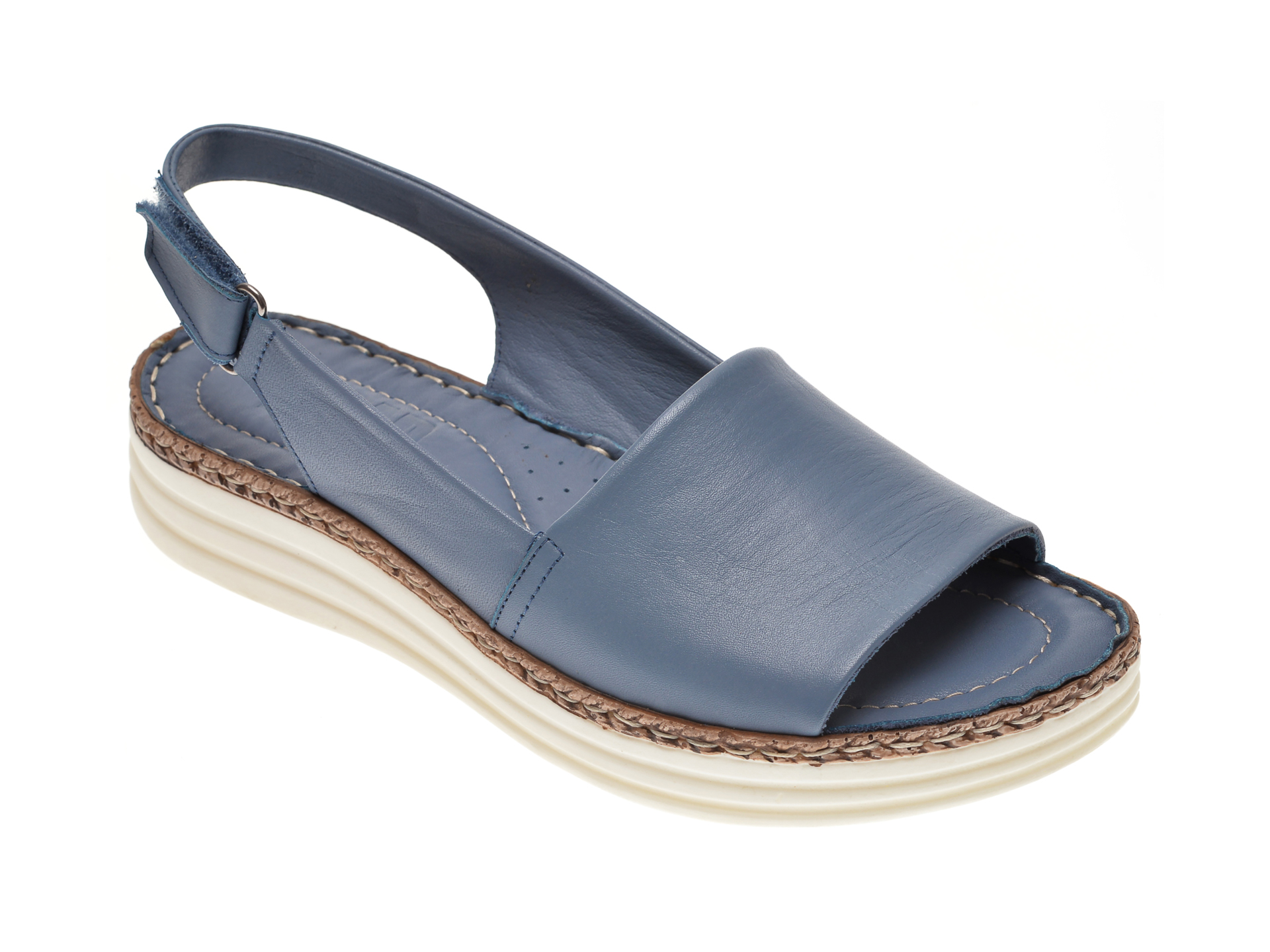 Sandale ON THE ROAD albastre, 580, din piele naturala