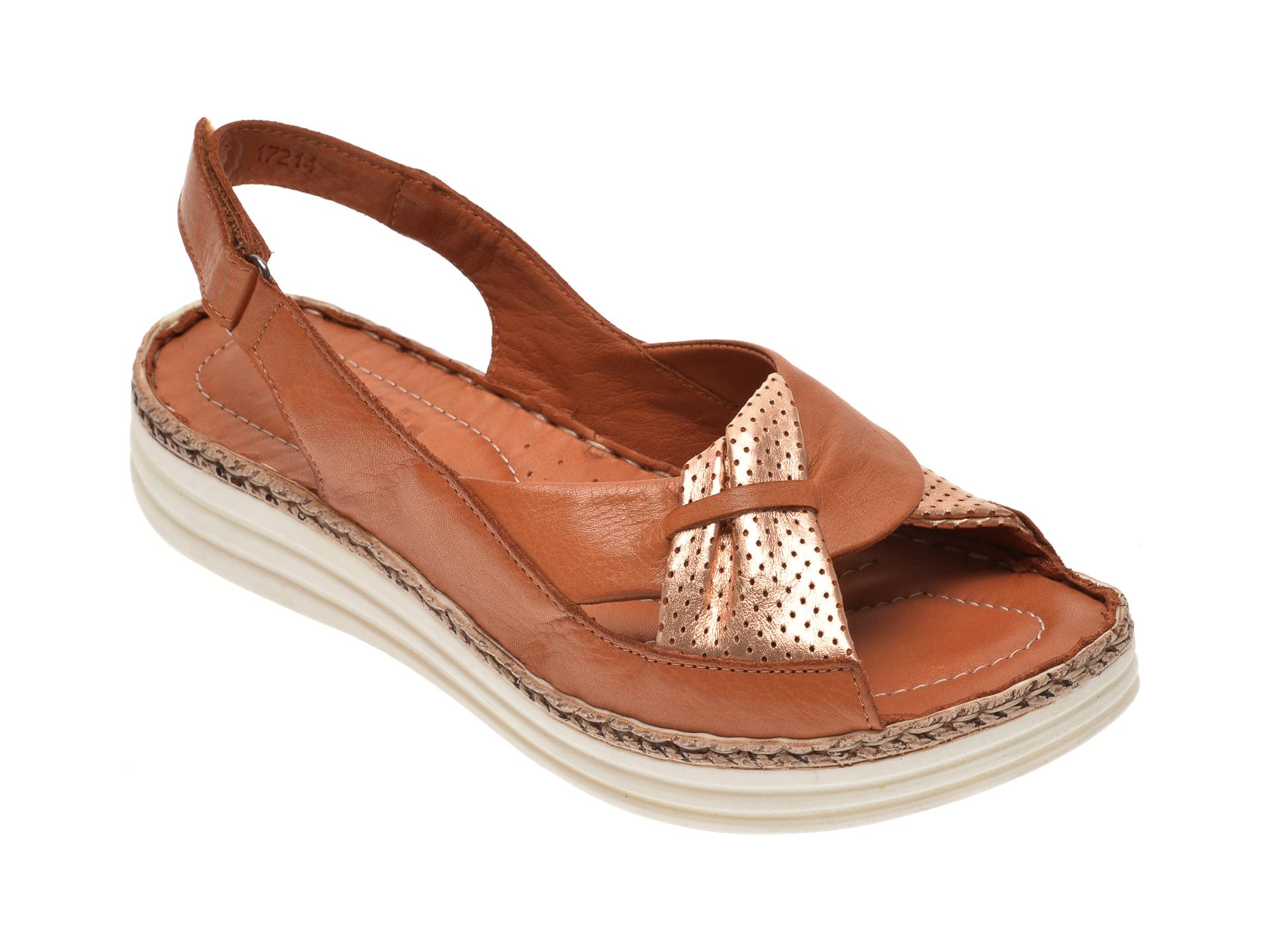 Sandale ON THE ROAD maro, 503, din piele naturala
