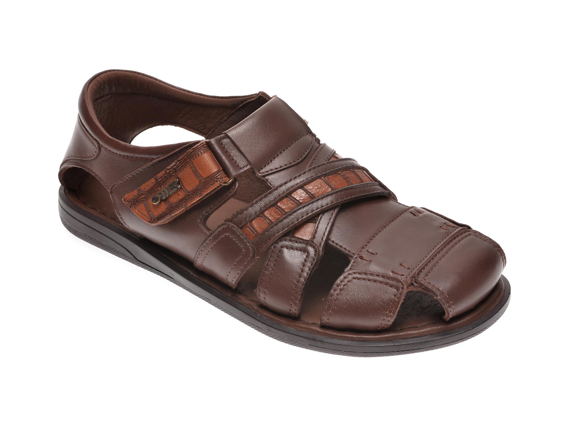 Sandale OTTER maro, 17400, din piele naturala imagine