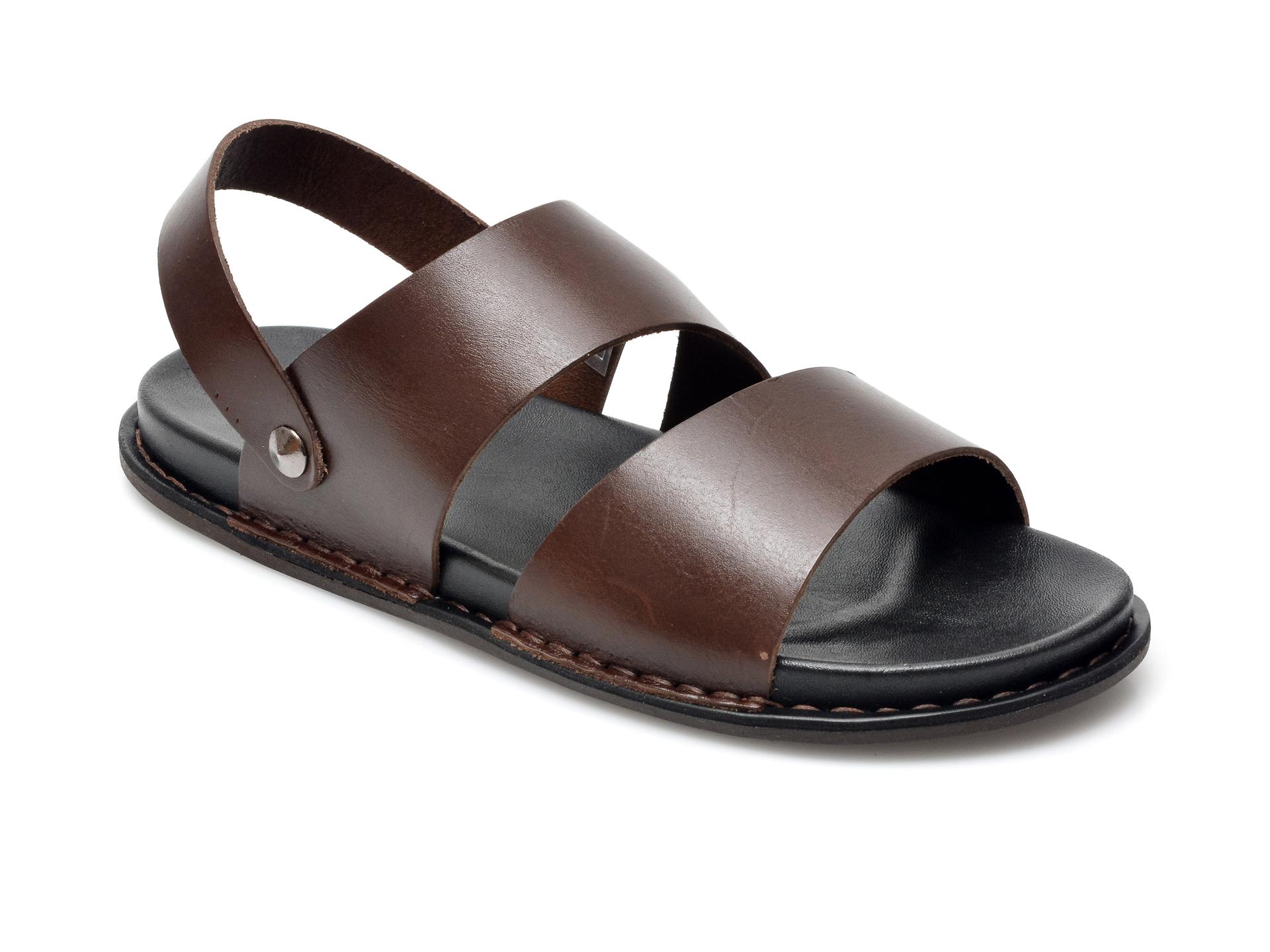 Sandale OTTER maro, 312, din piele naturala imagine