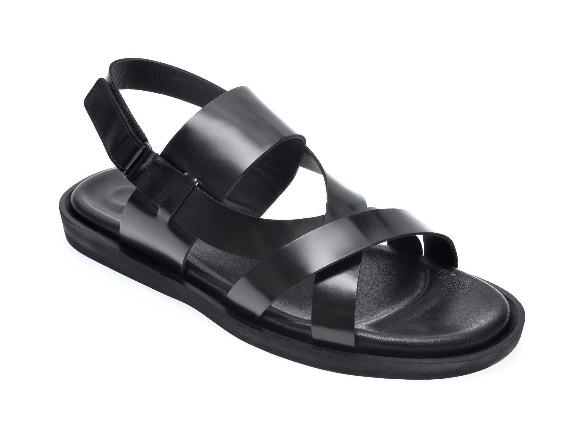 Sandale OTTER negre, 102, din piele naturala imagine
