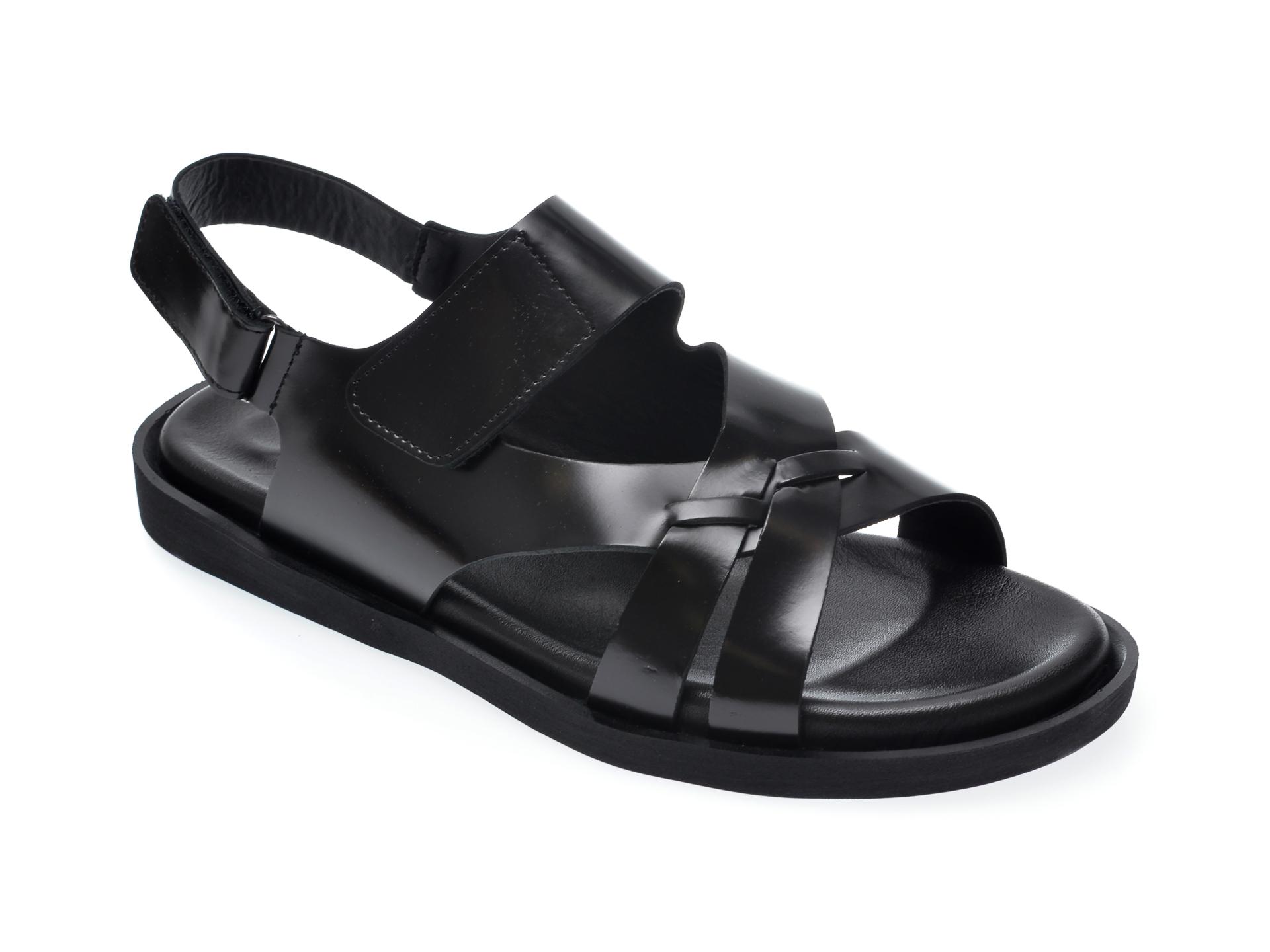 Sandale OTTER negre, 104, din piele naturala imagine