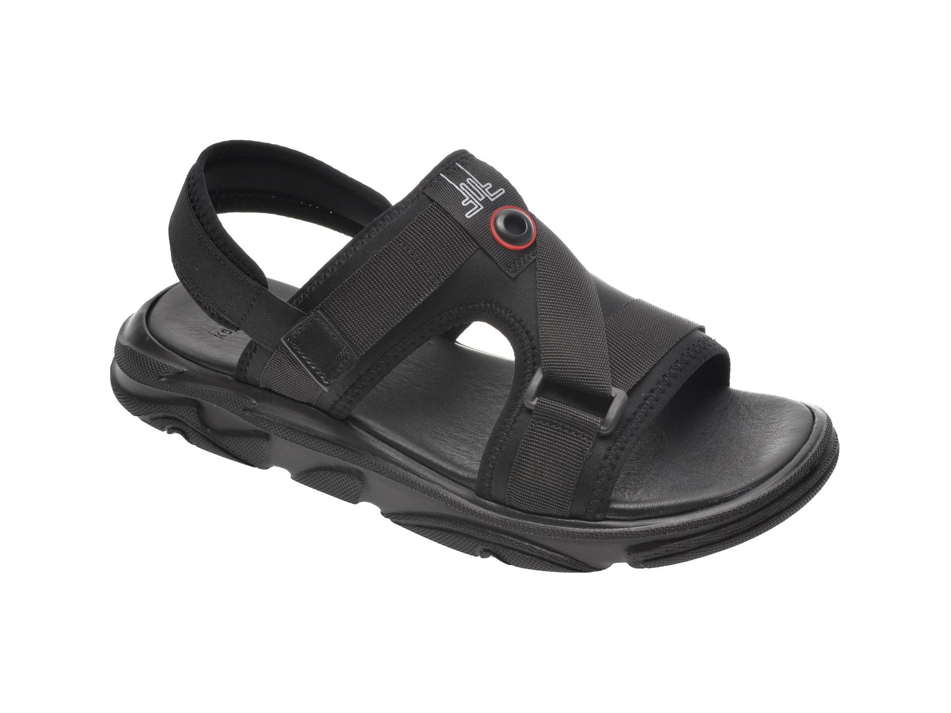 Sandale OTTER negre, 502, din material textil imagine