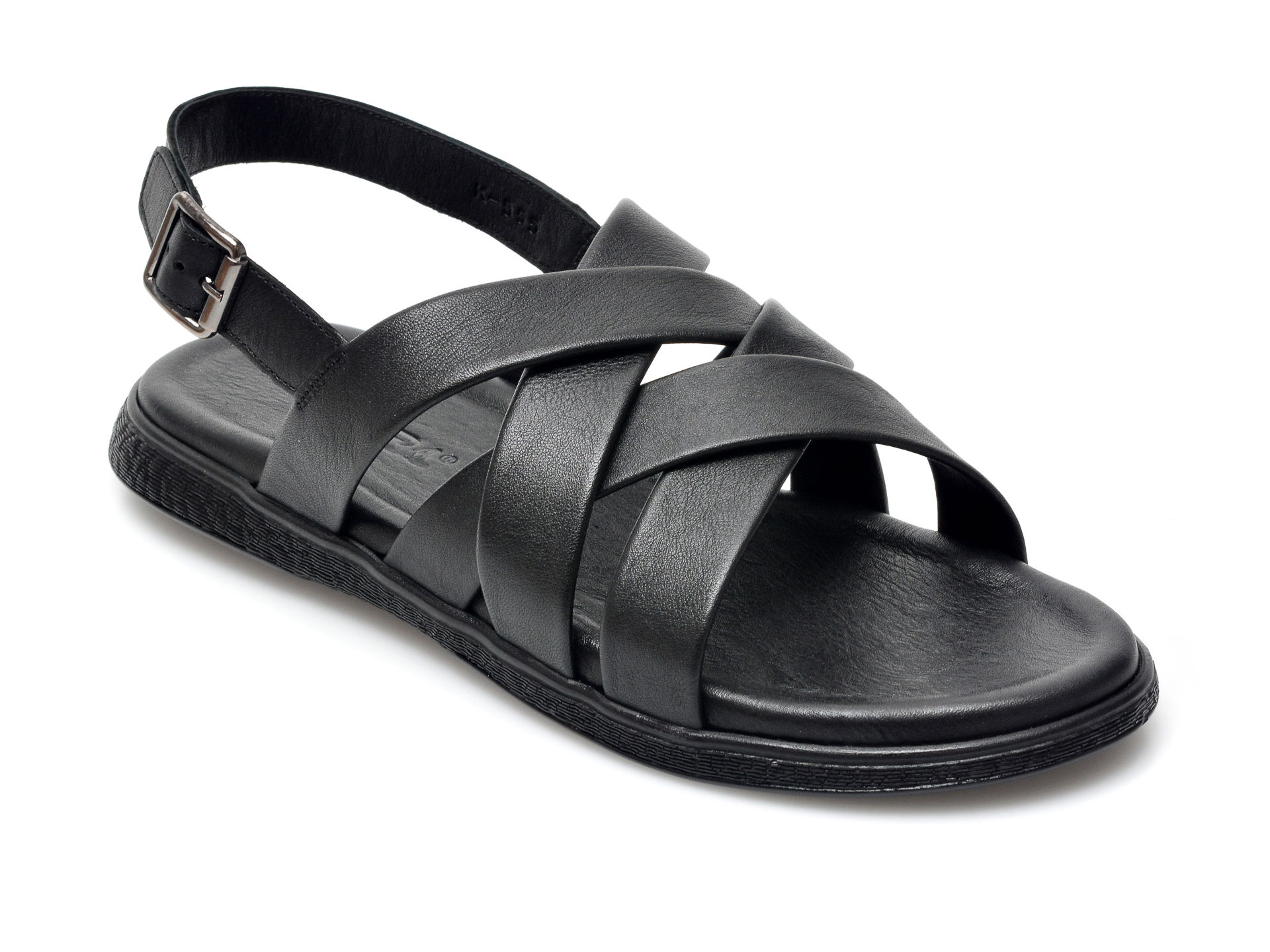 Sandale OTTER negre, 555, din piele naturala imagine