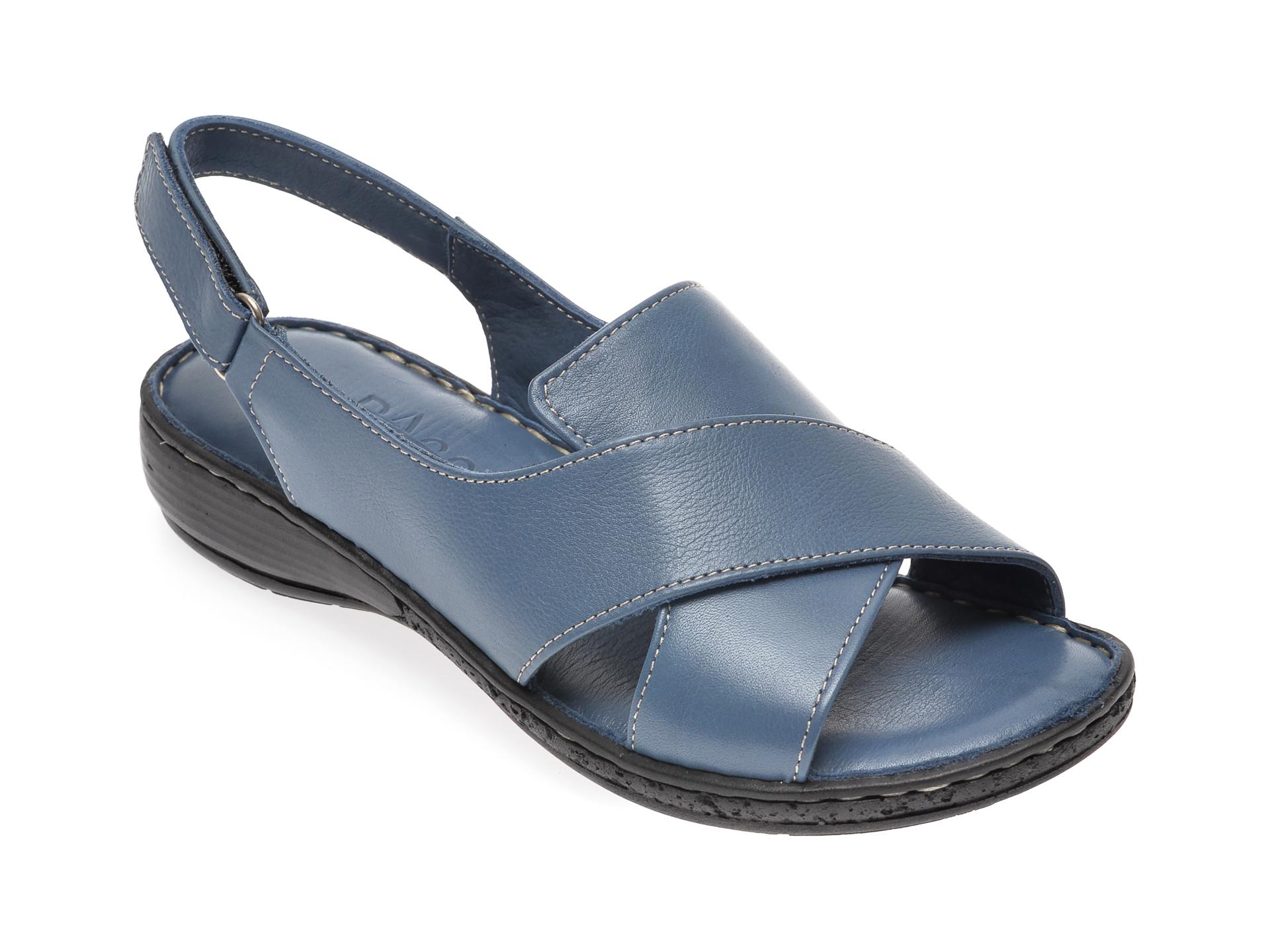 Sandale PASS COLLECTION albastre, 436, din piele naturala imagine