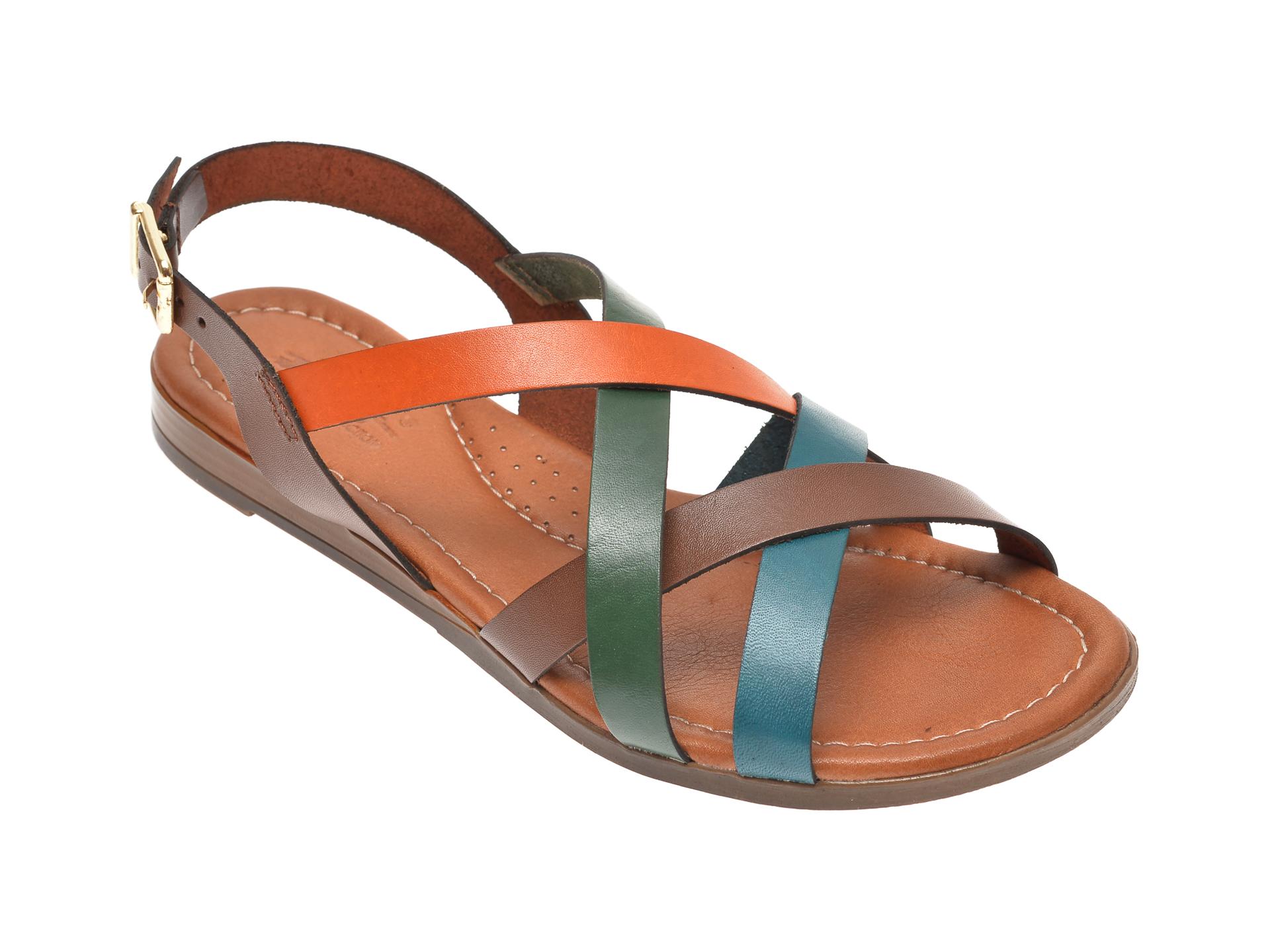 Sandale PASS COLLECTION multicolor, 1504, din piele naturala
