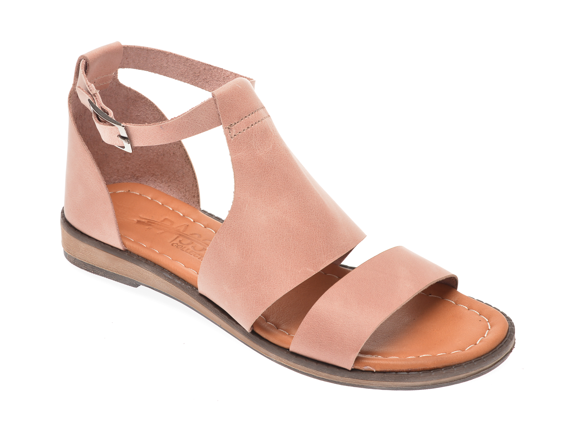 Sandale PASS COLLECTION nude, 1004K, din piele naturala