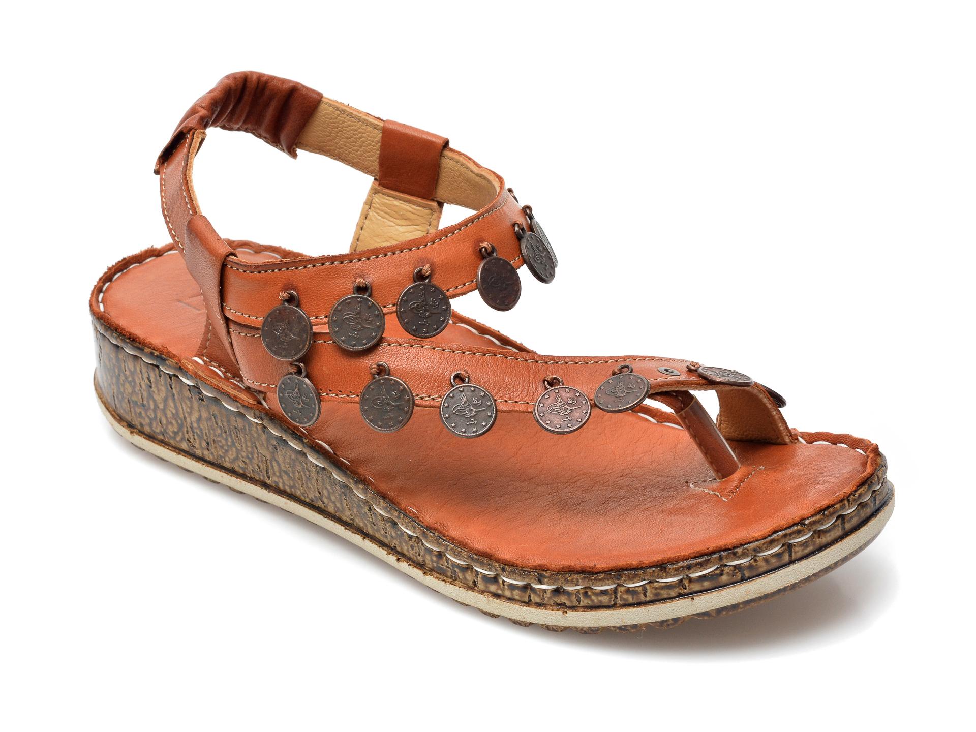 Sandale PAVARELLA maro, 1313, din piele naturala