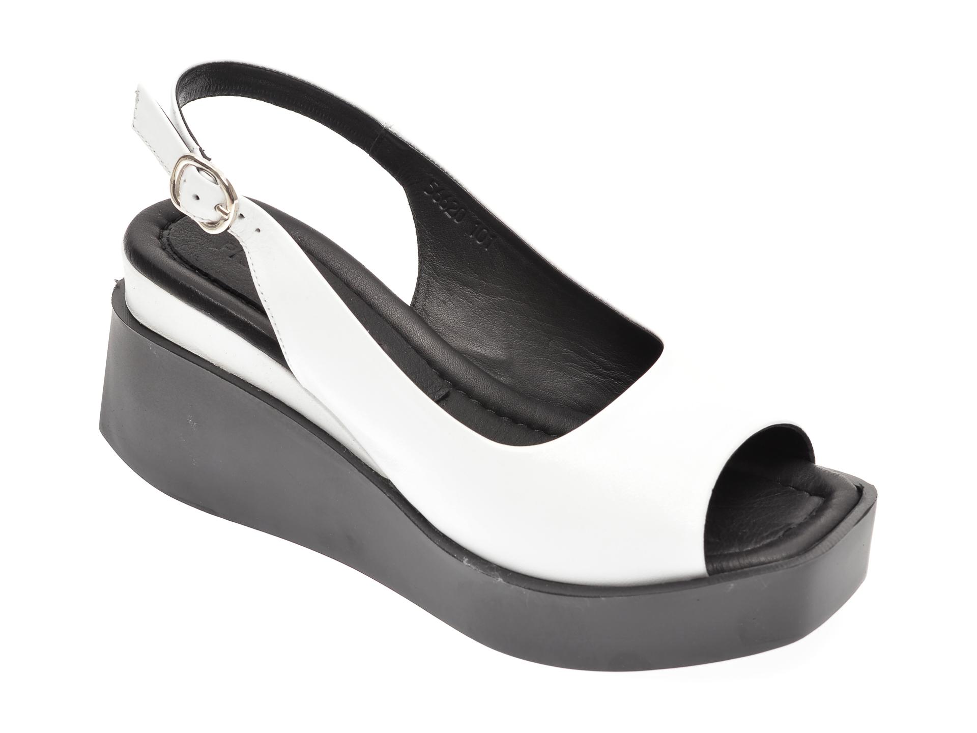 Sandale PRIMOVALERIO albe, 56620, din piele naturala