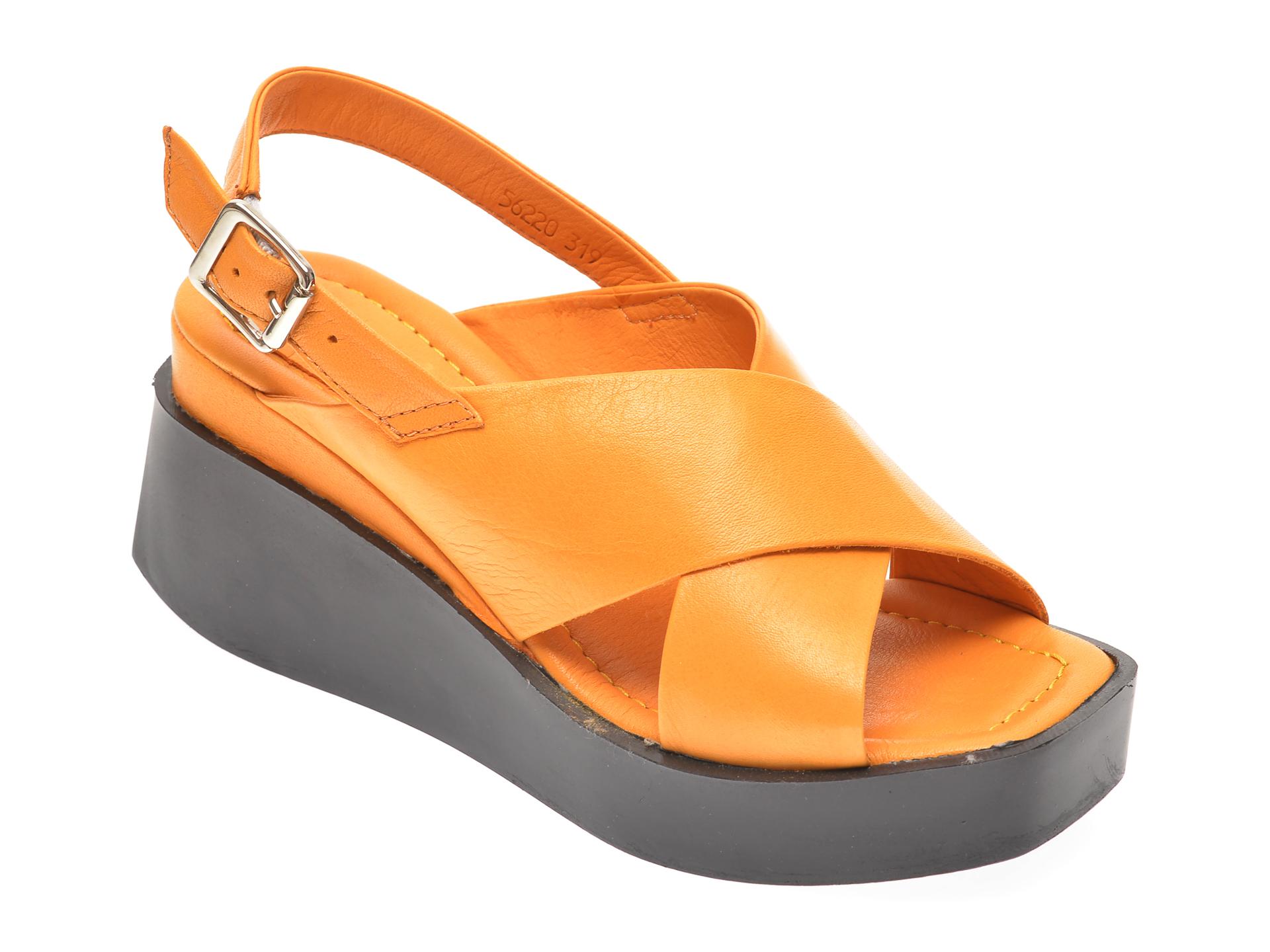 Sandale PRIMOVALERIO galbene, 56220, din piele naturala New