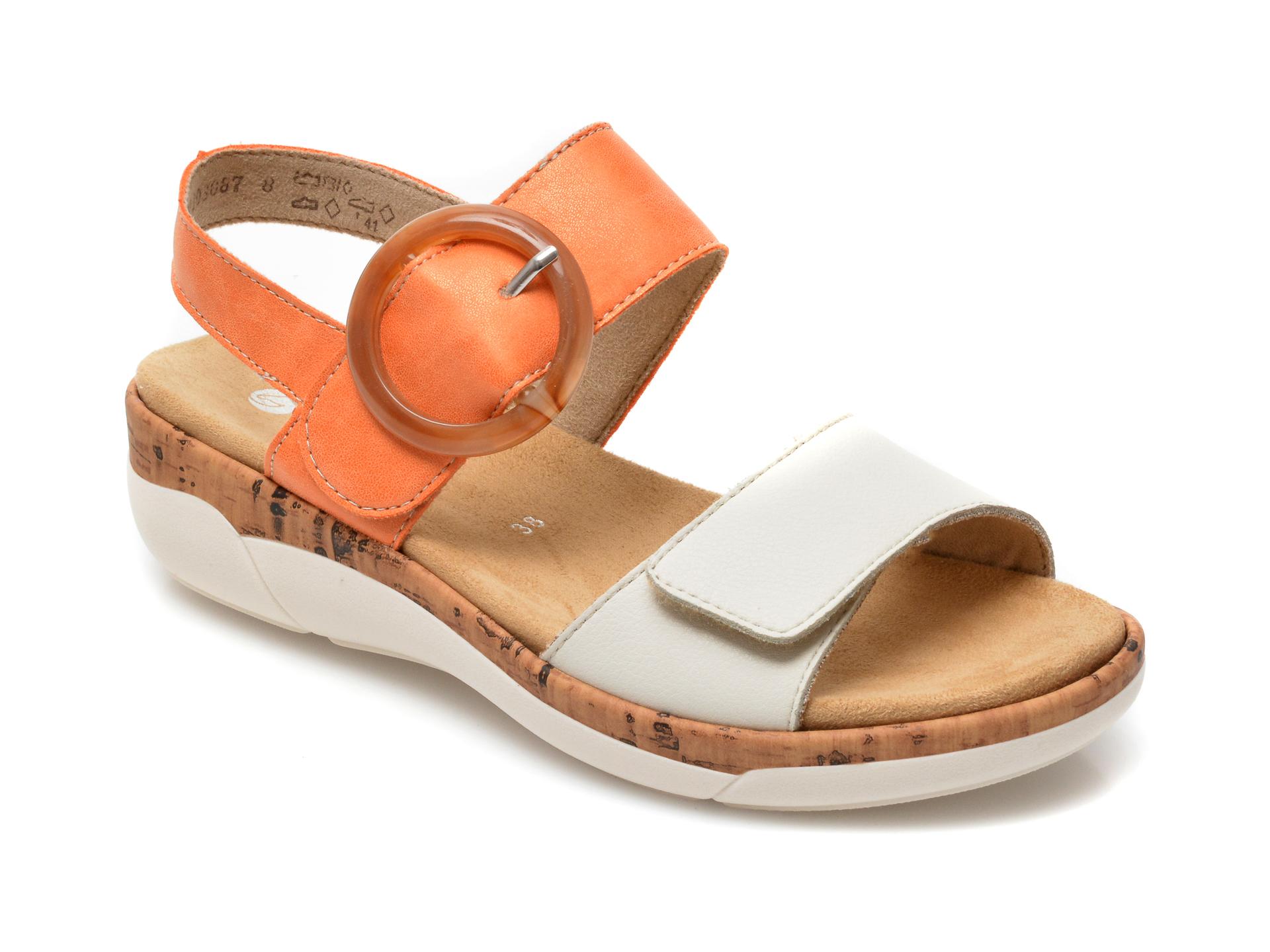 Sandale REMONTE bej, R6853, din piele naturala imagine otter.ro 2021
