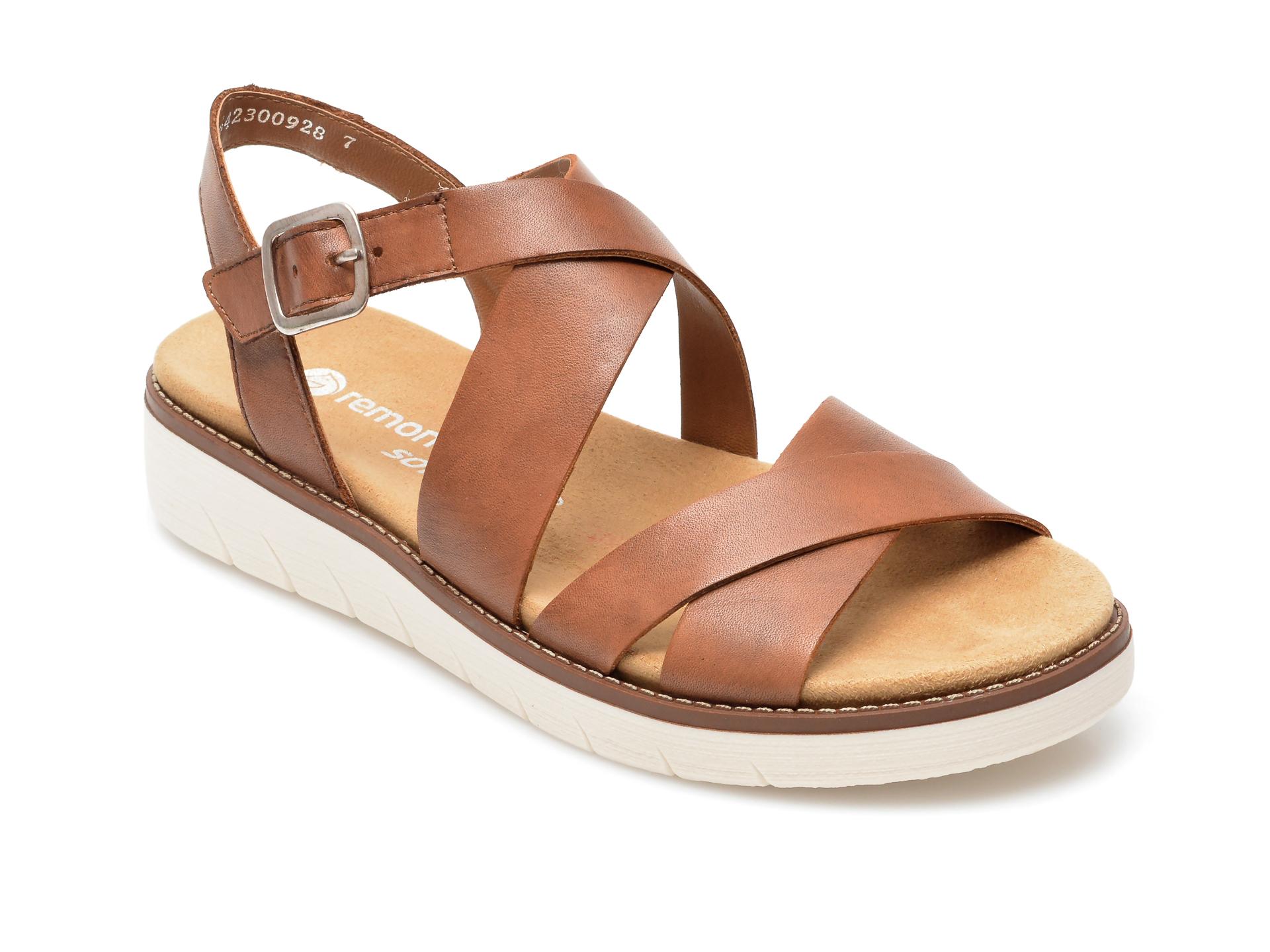 Sandale REMONTE maro, D2060, din piele naturala imagine otter.ro 2021