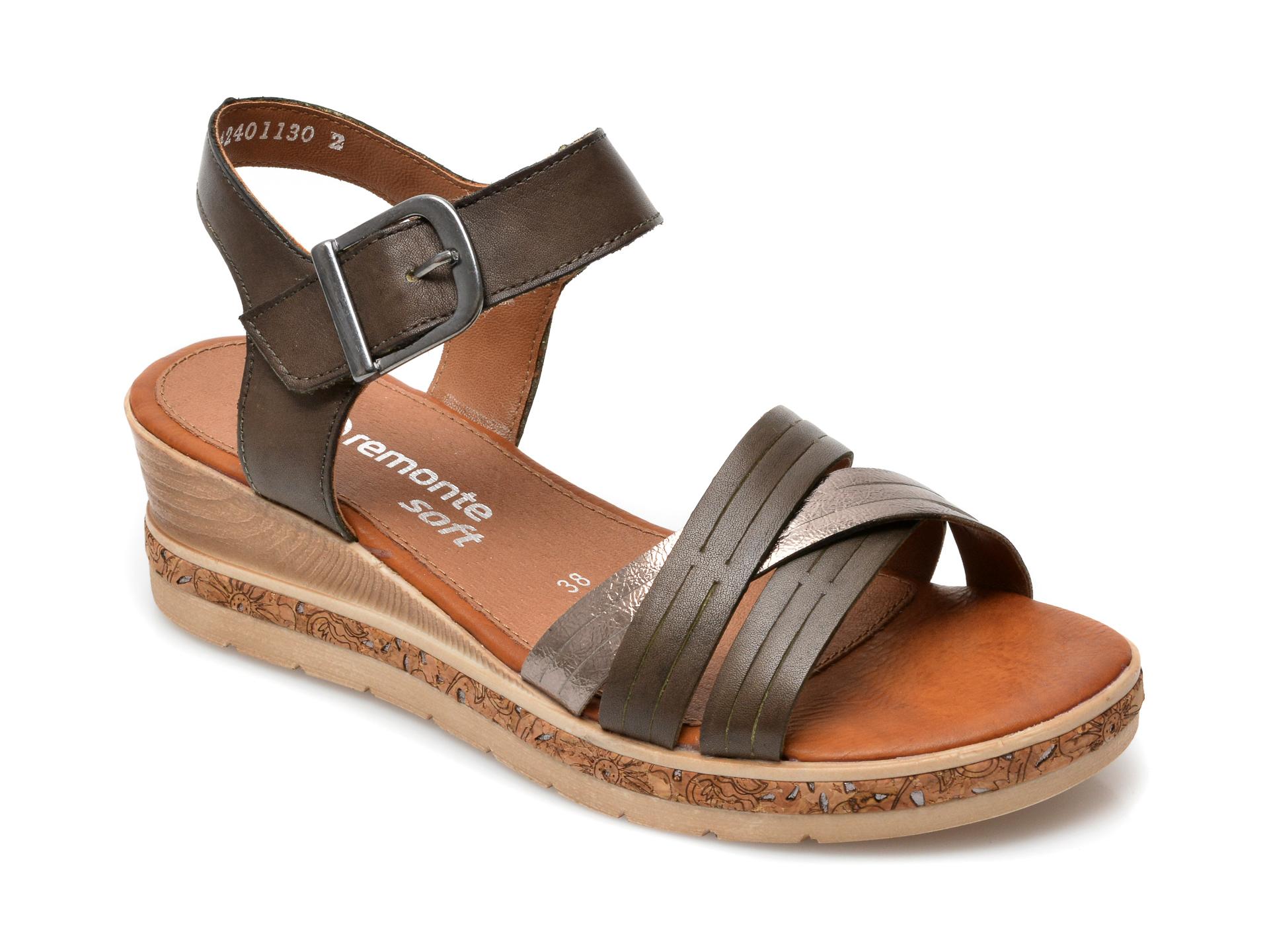 Sandale REMONTE maro, D3057, din piele naturala imagine otter.ro 2021
