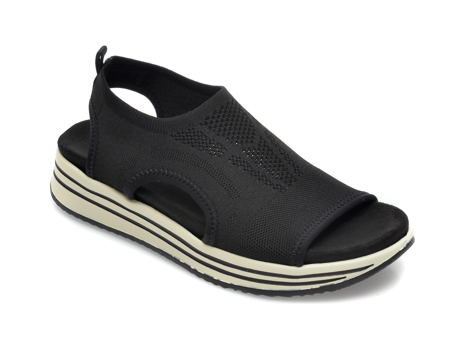 Sandale REMONTE negre, R2955, din material textil imagine otter.ro 2021