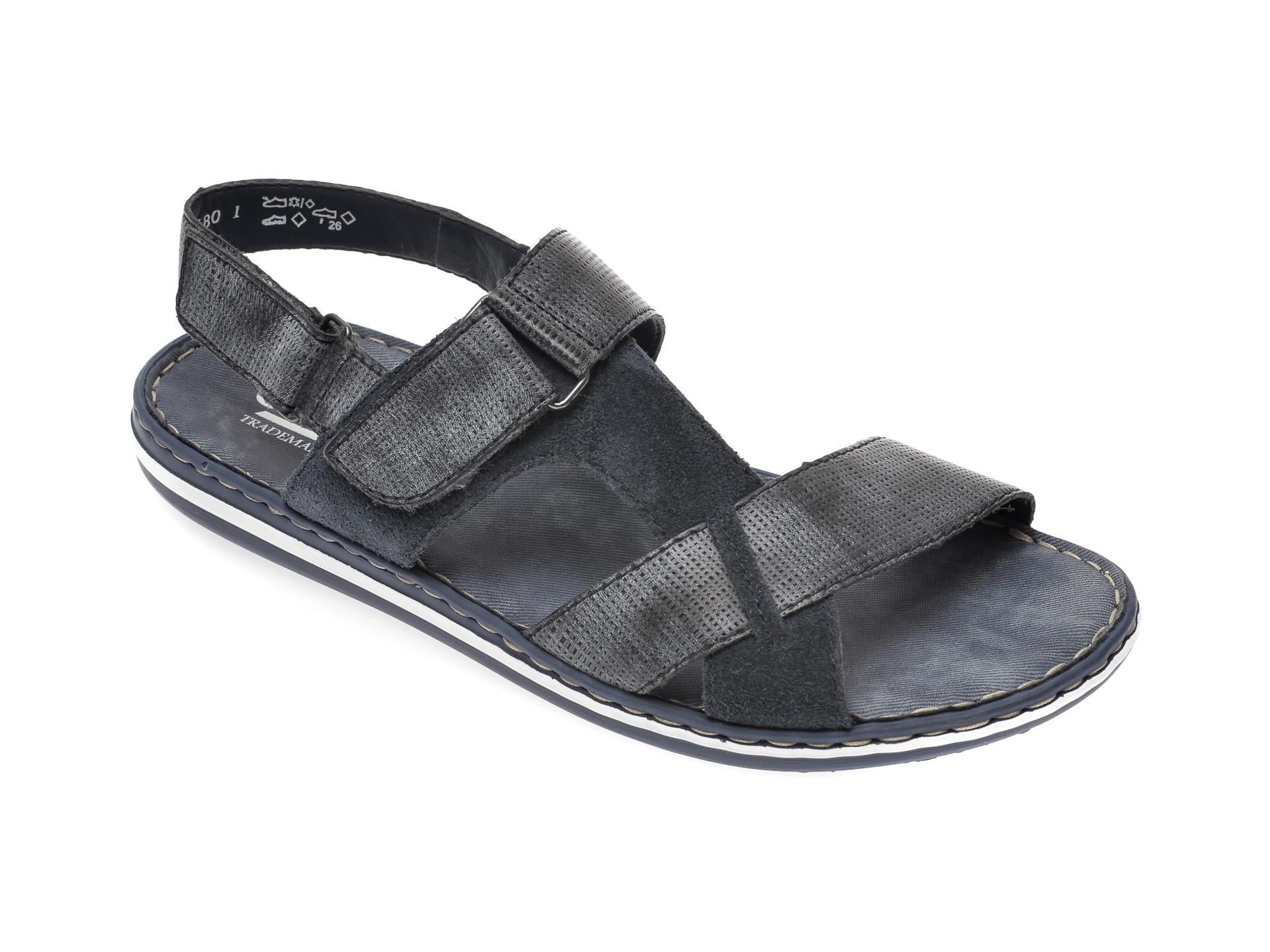 Sandale RIEKER bleumarin, 21070, din piele naturala imagine