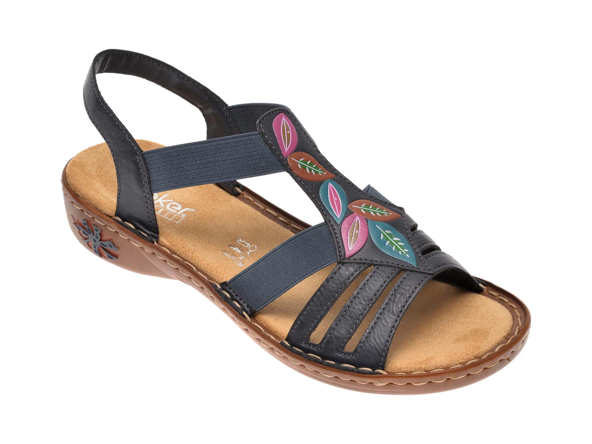 Sandale RIEKER bleumarin, 60171, din piele ecologica