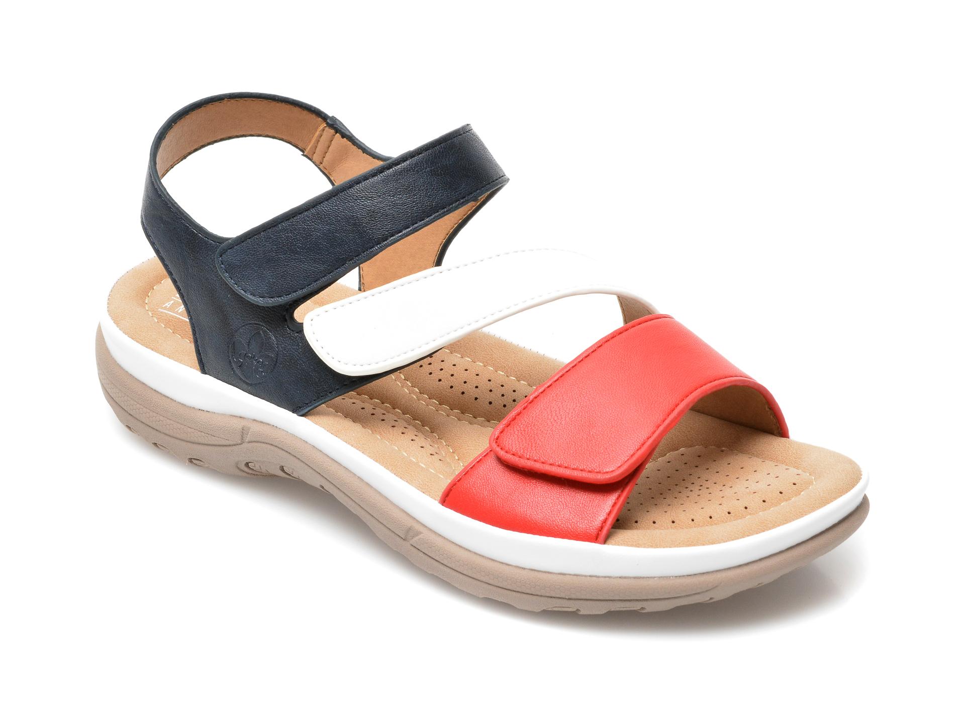 Sandale RIEKER bleumarin, V8872, din piele ecologica