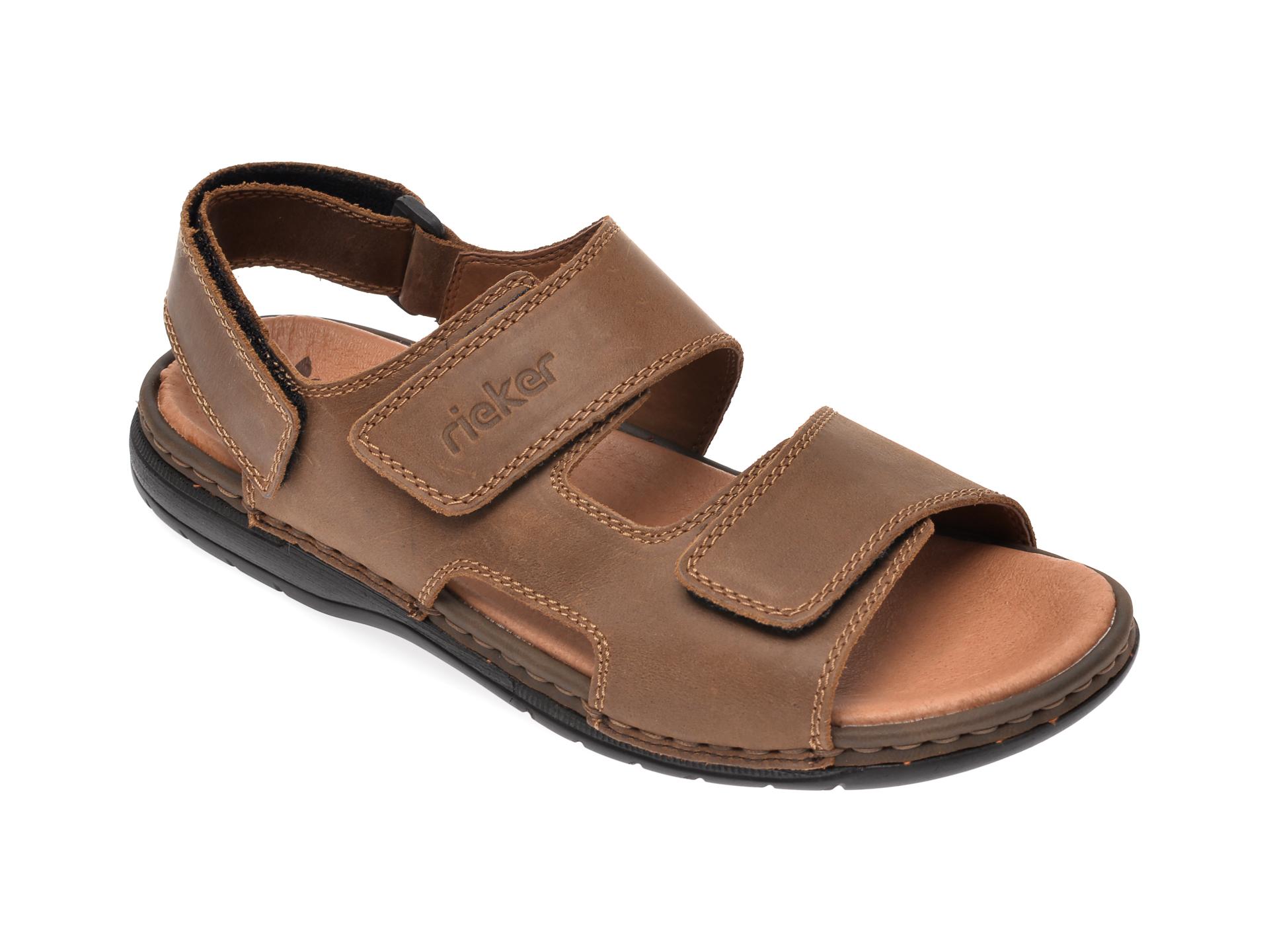 Sandale RIEKER maro, 25558, din piele naturala imagine