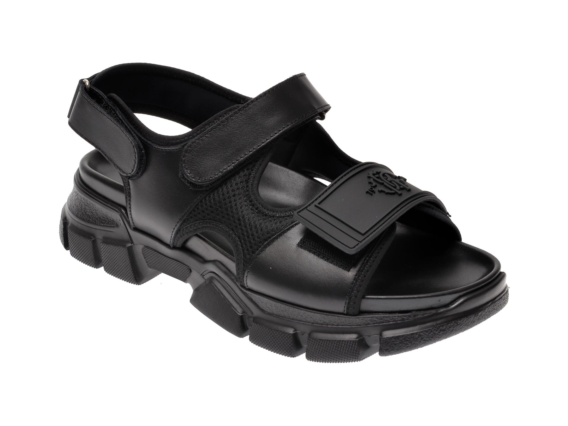 Sandale ROBERTO CAVALLI negre, 100H, din piele naturala imagine
