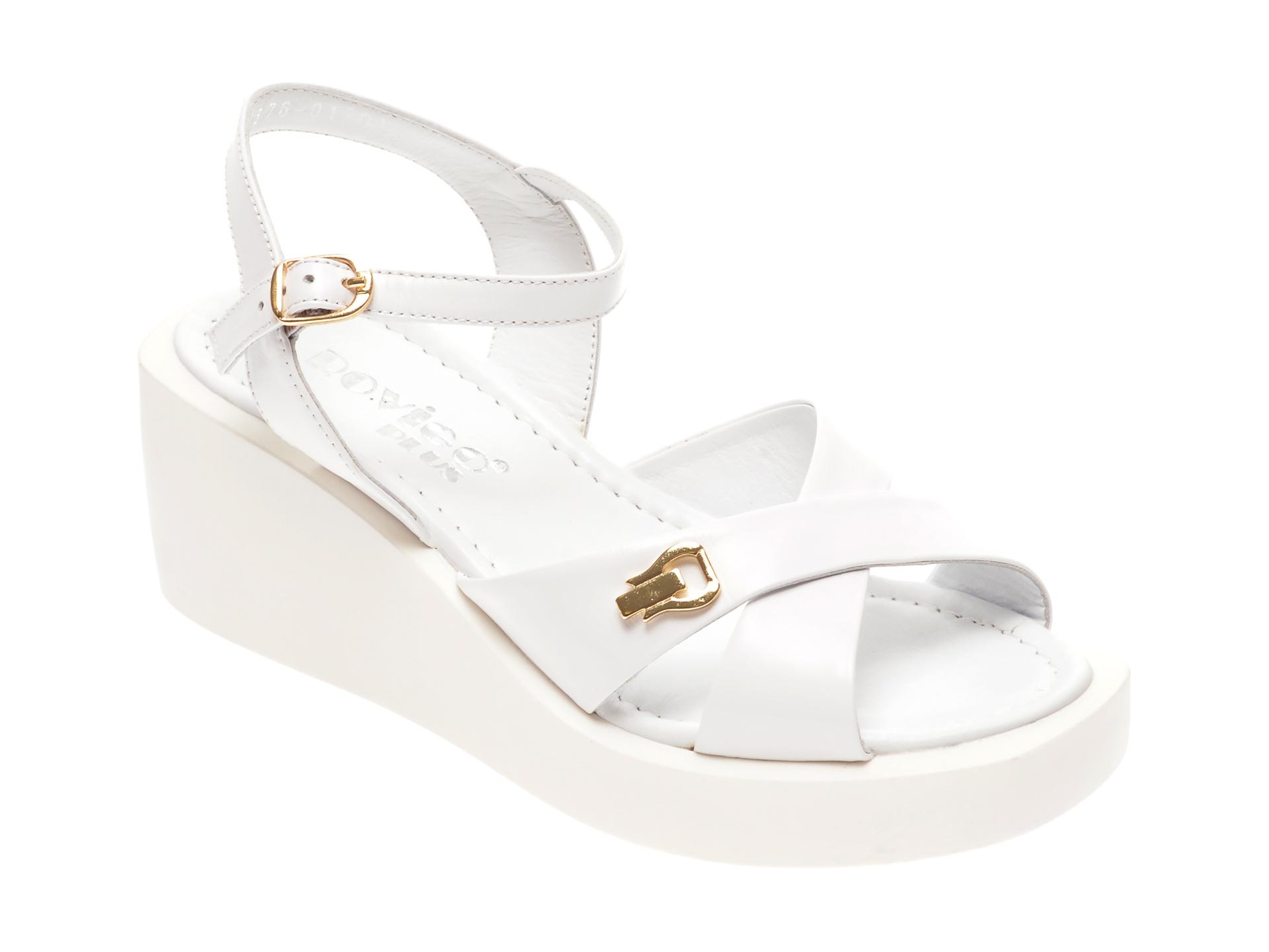 Sandale ROVIGO albe, 1182676, din piele naturala