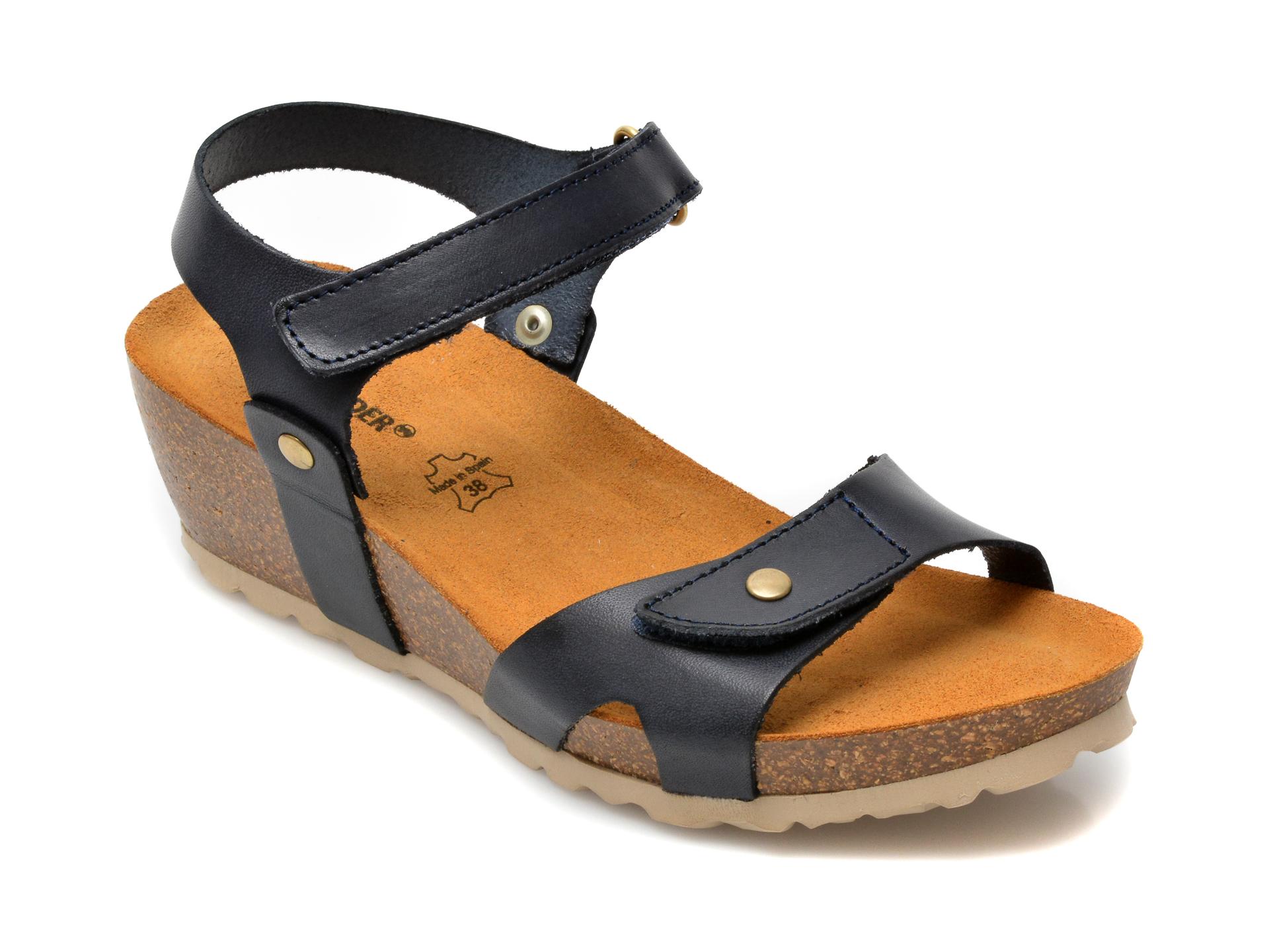 Sandale SALAMANDER bleumarin, 23501, din piele naturala imagine otter.ro 2021