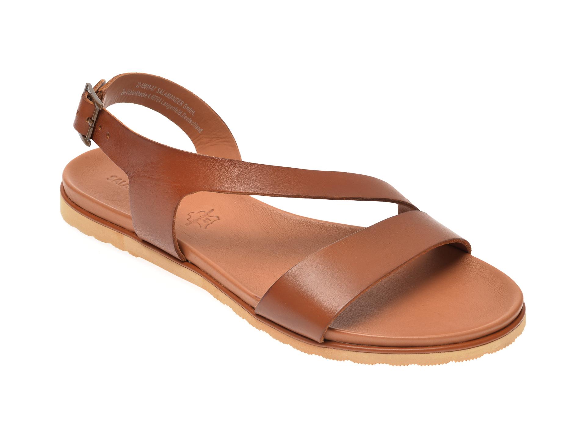 Sandale SALAMANDER coniac, 15019, din piele naturala imagine