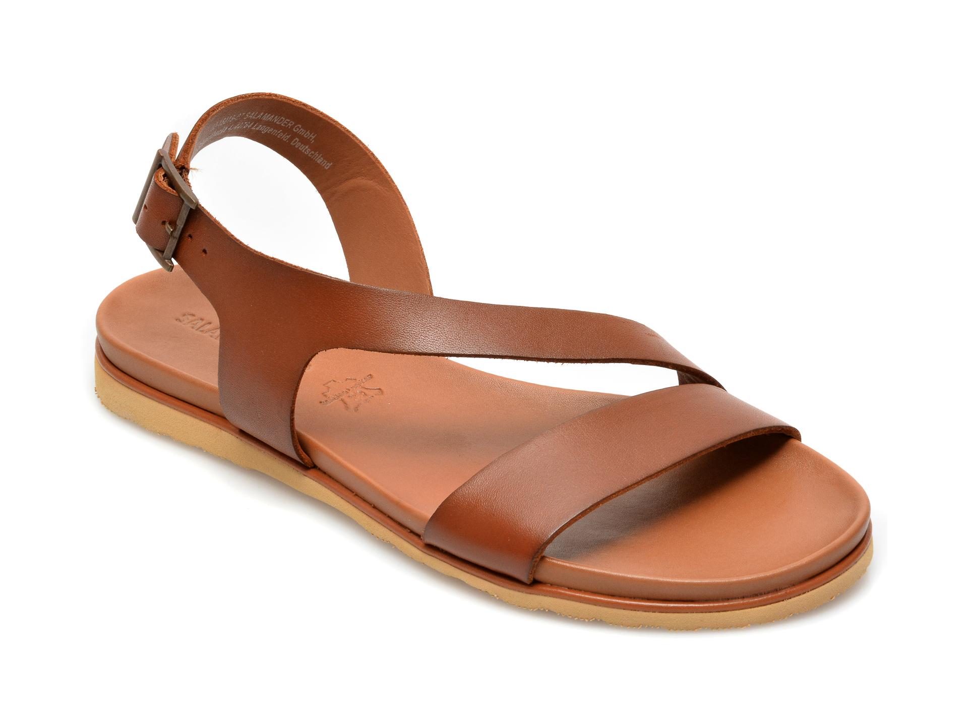 Sandale SALAMANDER maro, 15019, din piele naturala imagine otter.ro 2021