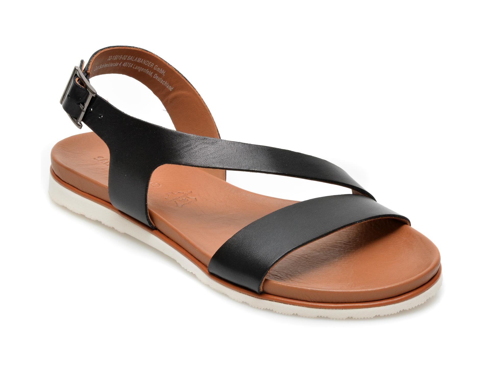 Sandale SALAMANDER negre, 15019, din piele naturala imagine otter.ro 2021