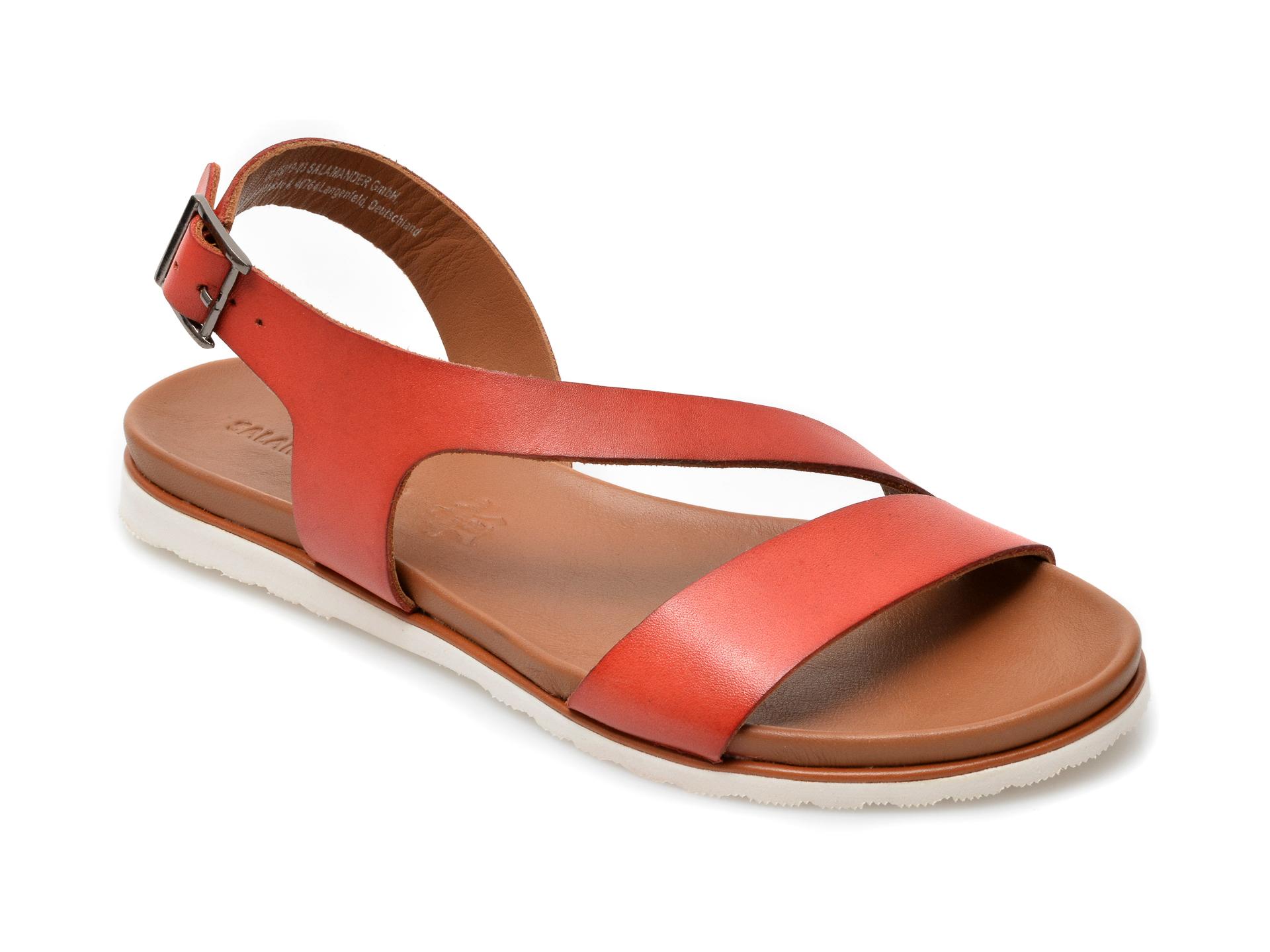Sandale SALAMANDER rosii, 15019, din piele naturala imagine otter.ro 2021