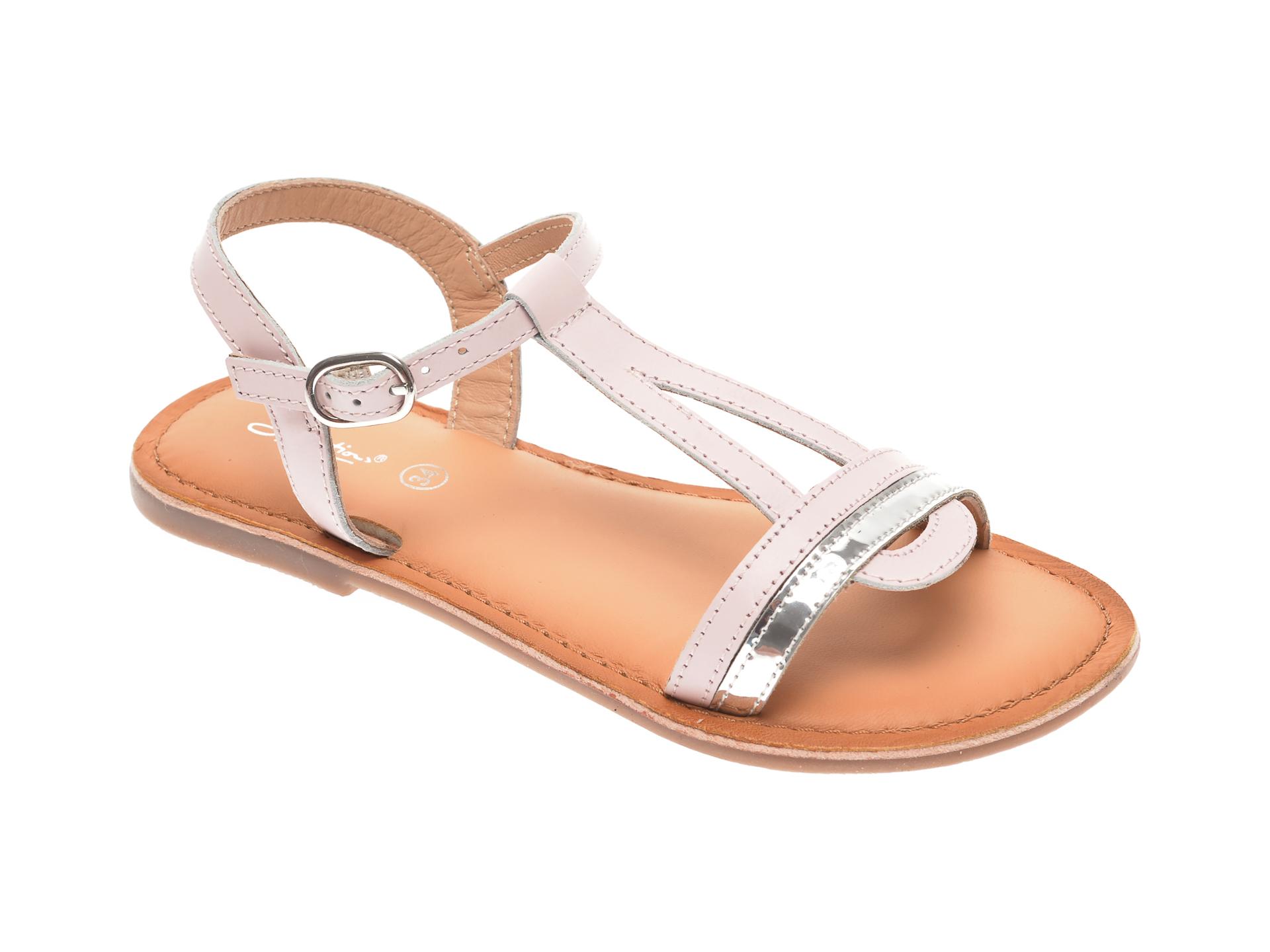 Sandale SELECTION KIDS roz, SH26, din piele naturala