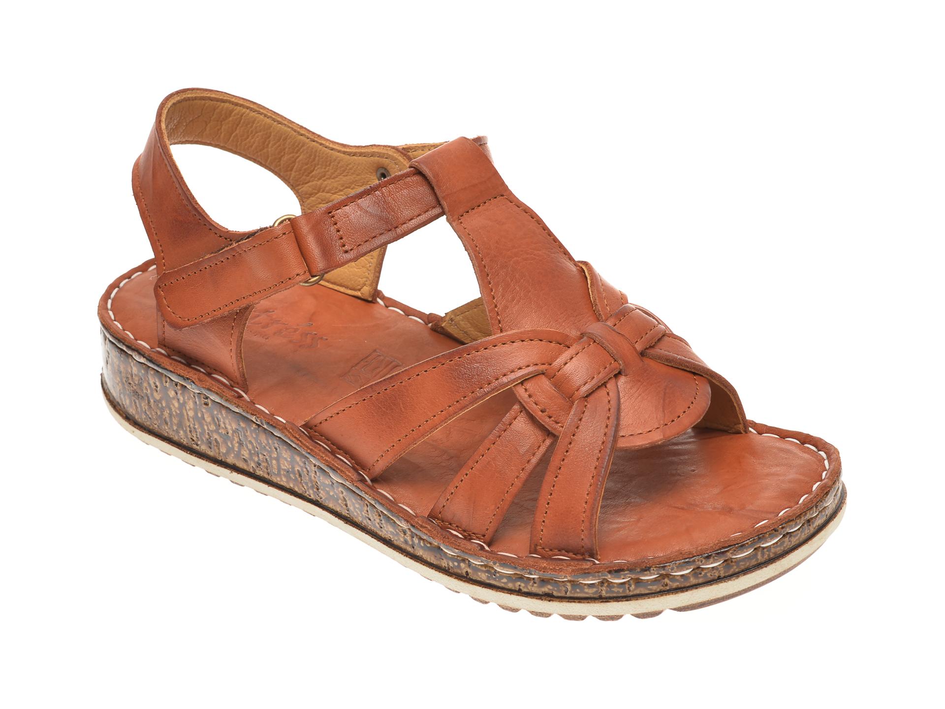 Sandale SINESTRESS maro, 1370, din piele naturala
