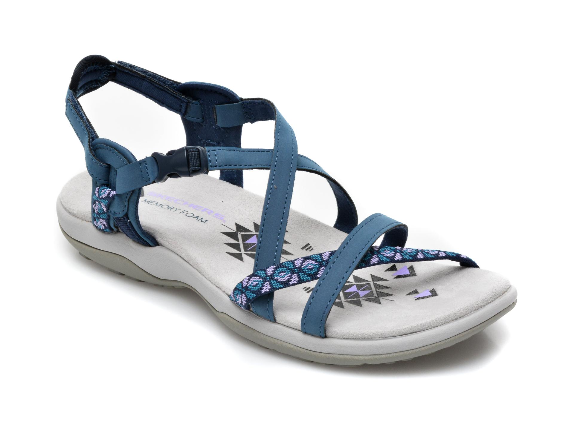 Sandale SKECHERS bleumarin, 40955, din piele ecologica imagine otter.ro 2021
