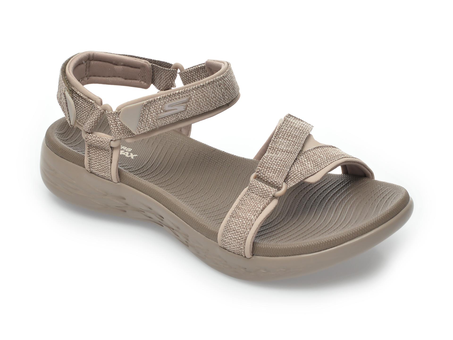 Sandale SKECHERS gri, On-The-Go, din material textil imagine otter.ro 2021