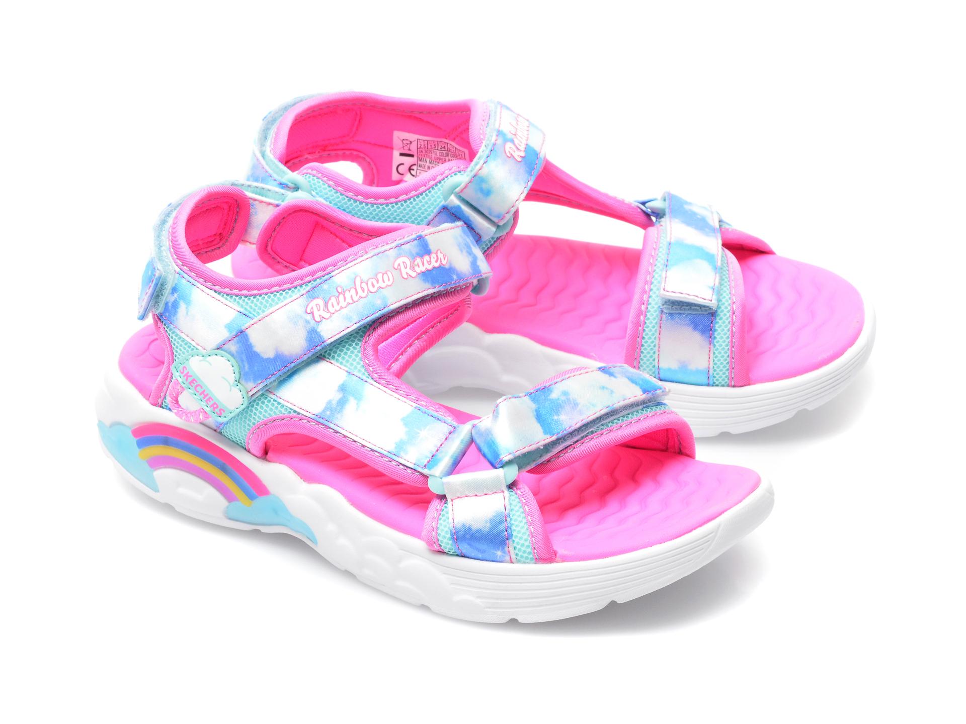 Sandale SKECHERS multicolor, 302975L, din material textil - 4