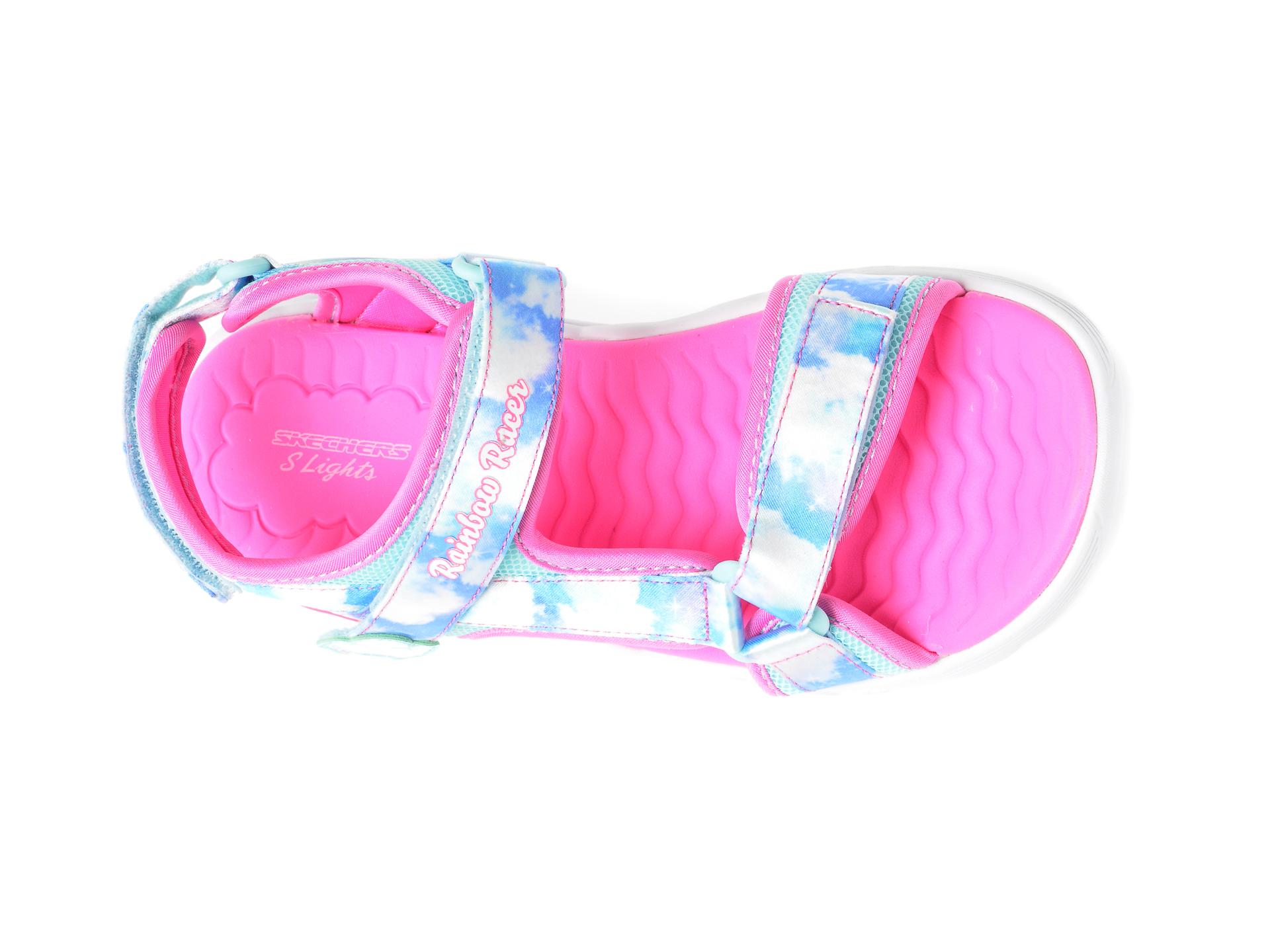 Sandale SKECHERS multicolor, 302975L, din material textil - 6