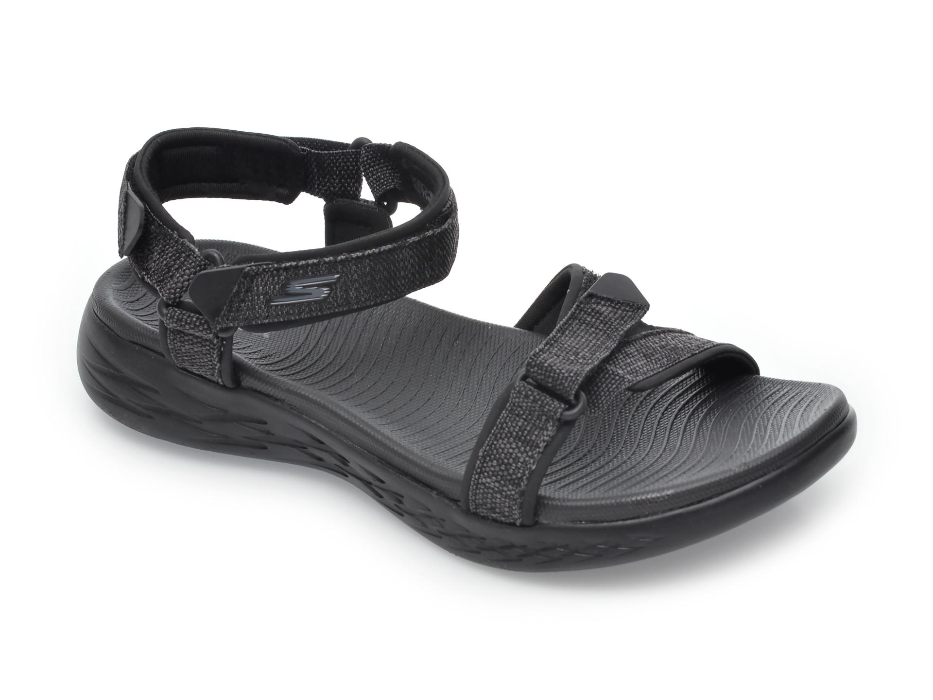 Sandale SKECHERS negre, On-The-Go, din material textil New