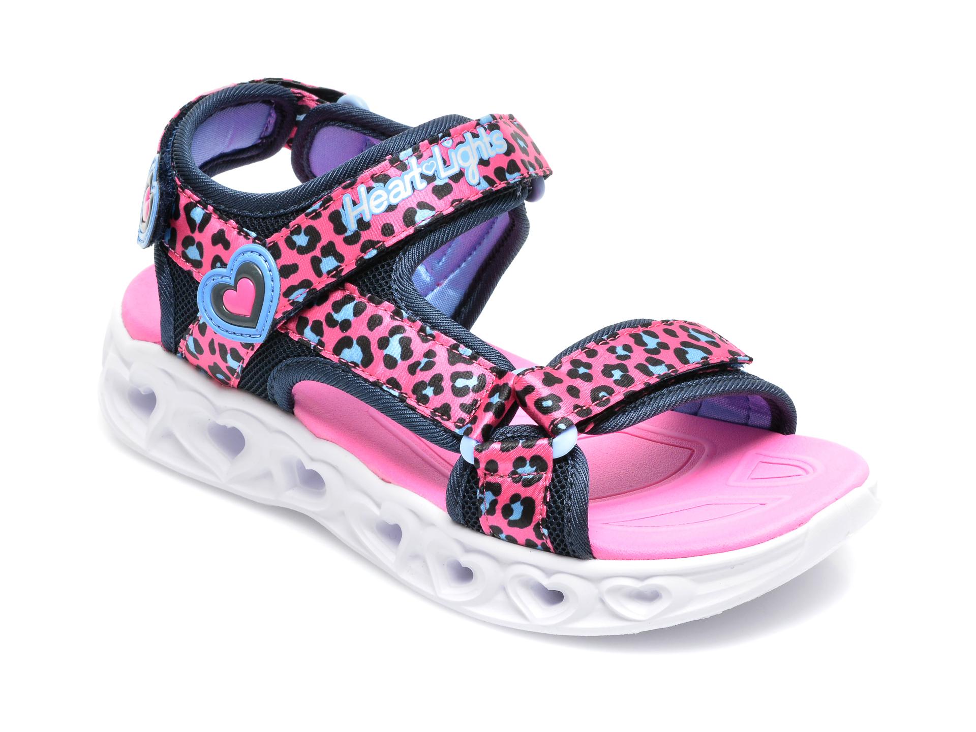Sandale SKECHERS roz, 302090L, din material textil