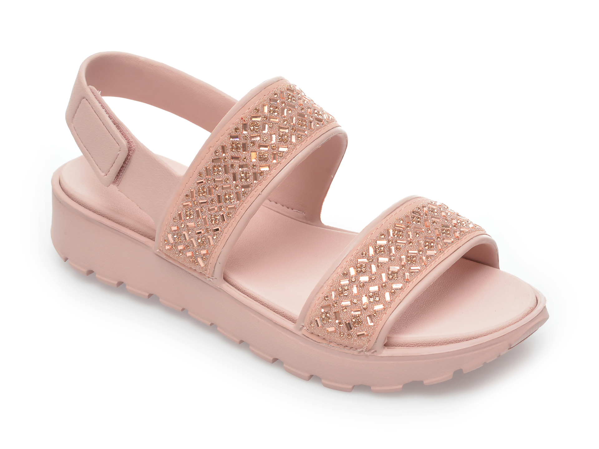Sandale SKECHERS roz, Footsteps Glam Party, din piele ecologica imagine otter.ro 2021