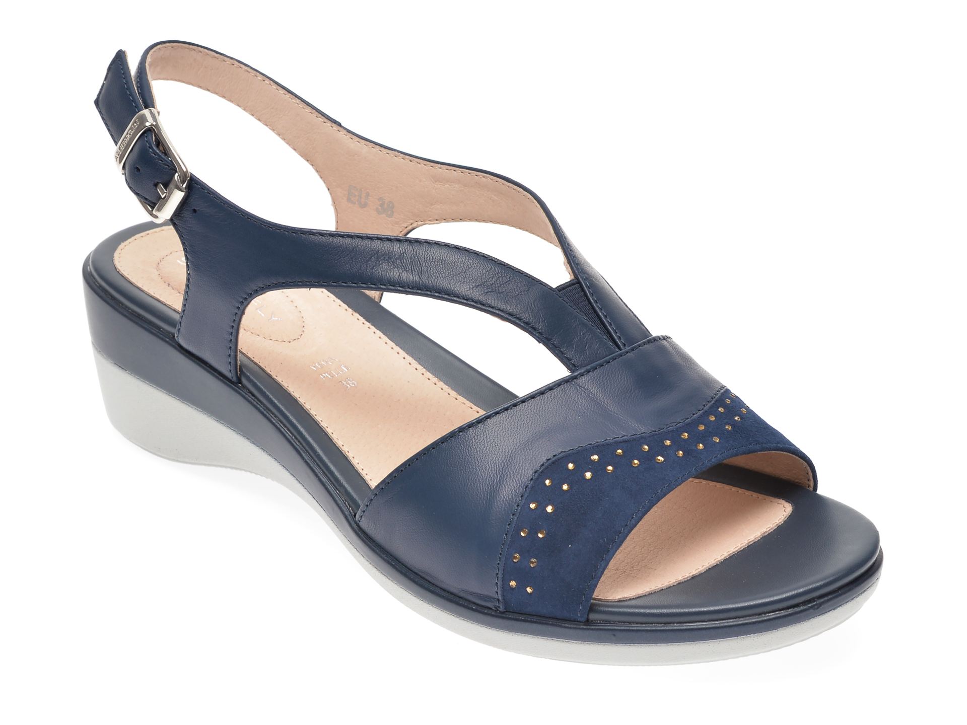Sandale STONEFLY bleumarin, VANII22, din piele naturala