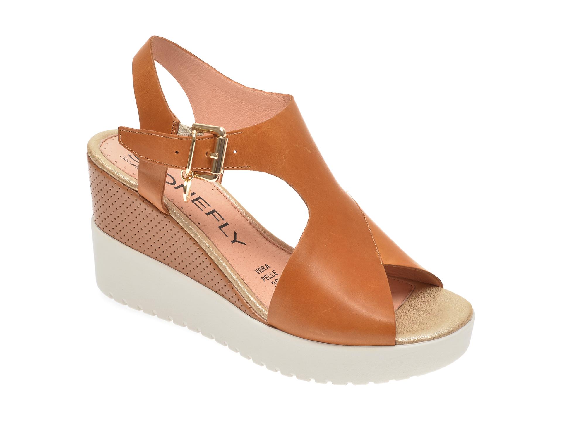 Sandale STONEFLY maro, ELY10, din piele naturala