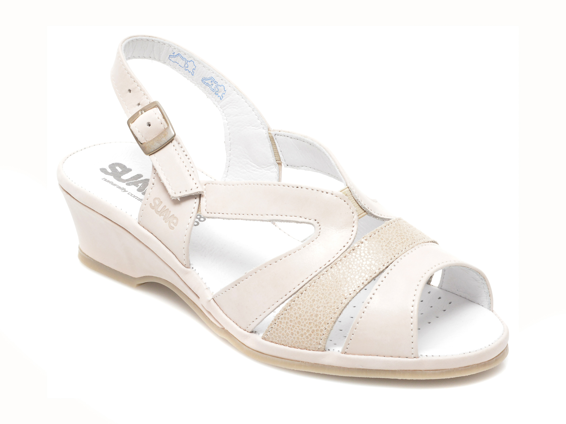 Sandale SUAVE albe, 259, din piele naturala imagine 2021 otter.ro