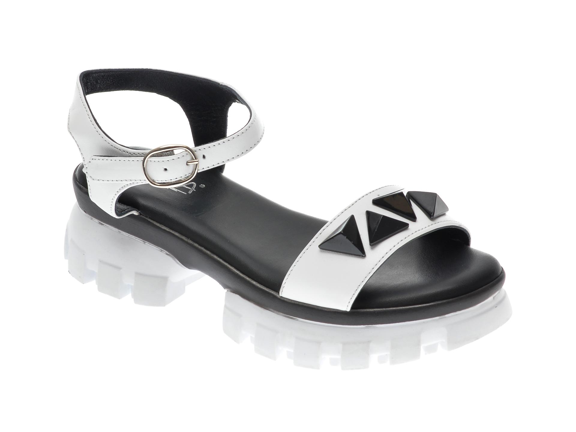 Sandale UNICA albe, A6734, din piele naturala imagine otter.ro 2021