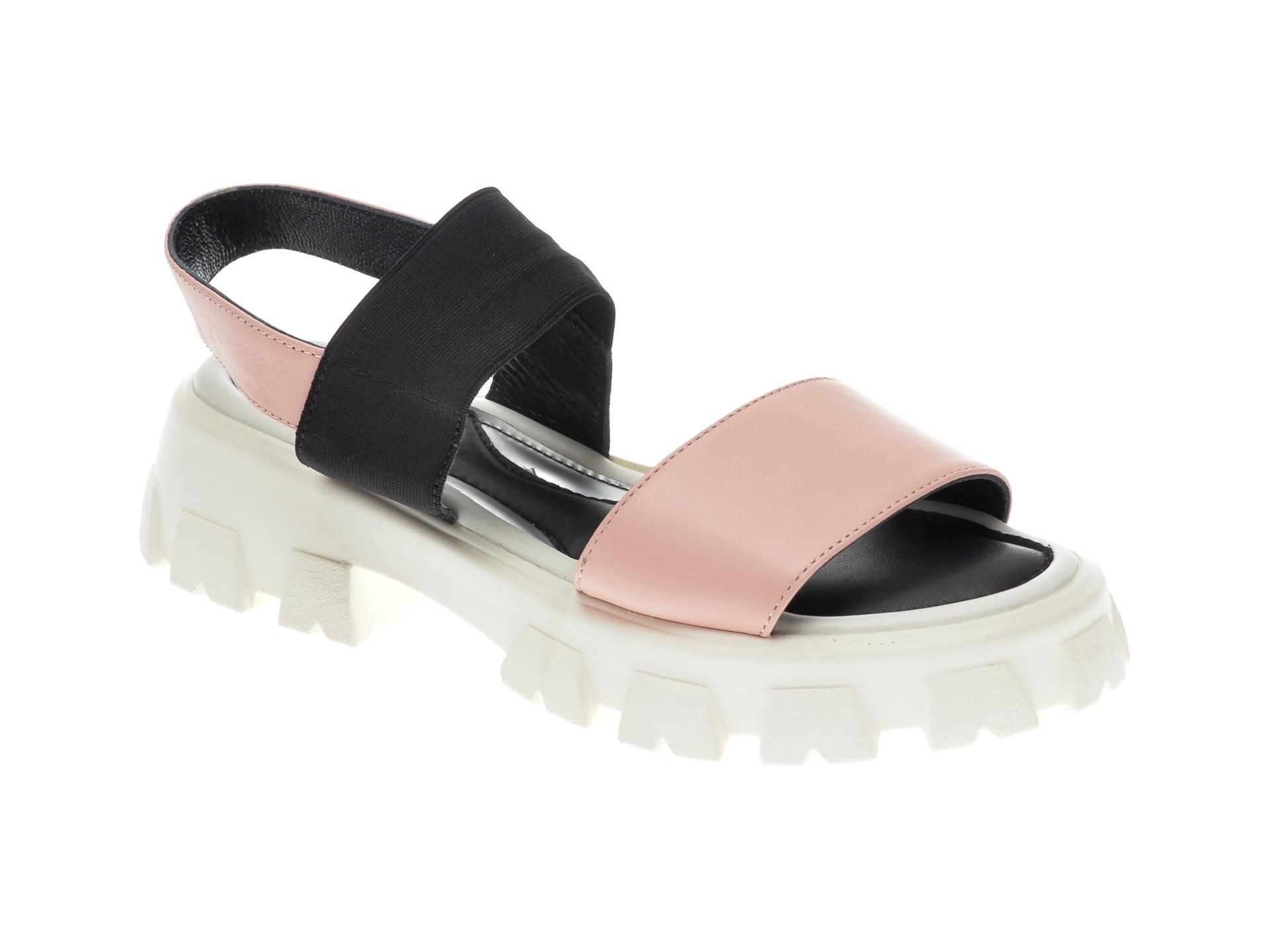 Sandale UNICA nude, 122, din piele naturala imagine otter.ro
