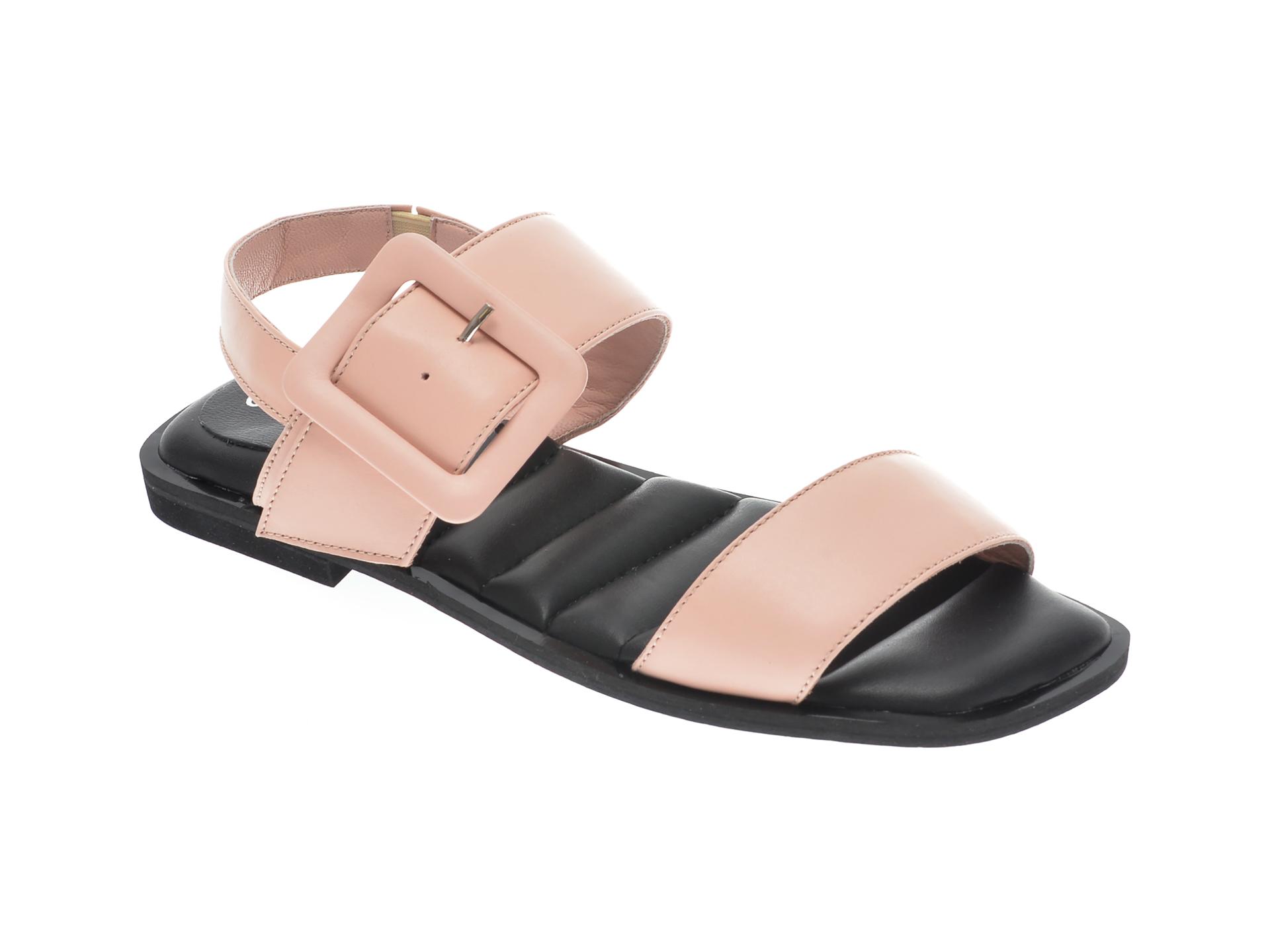Sandale UNICA nude, A6419, din piele naturala